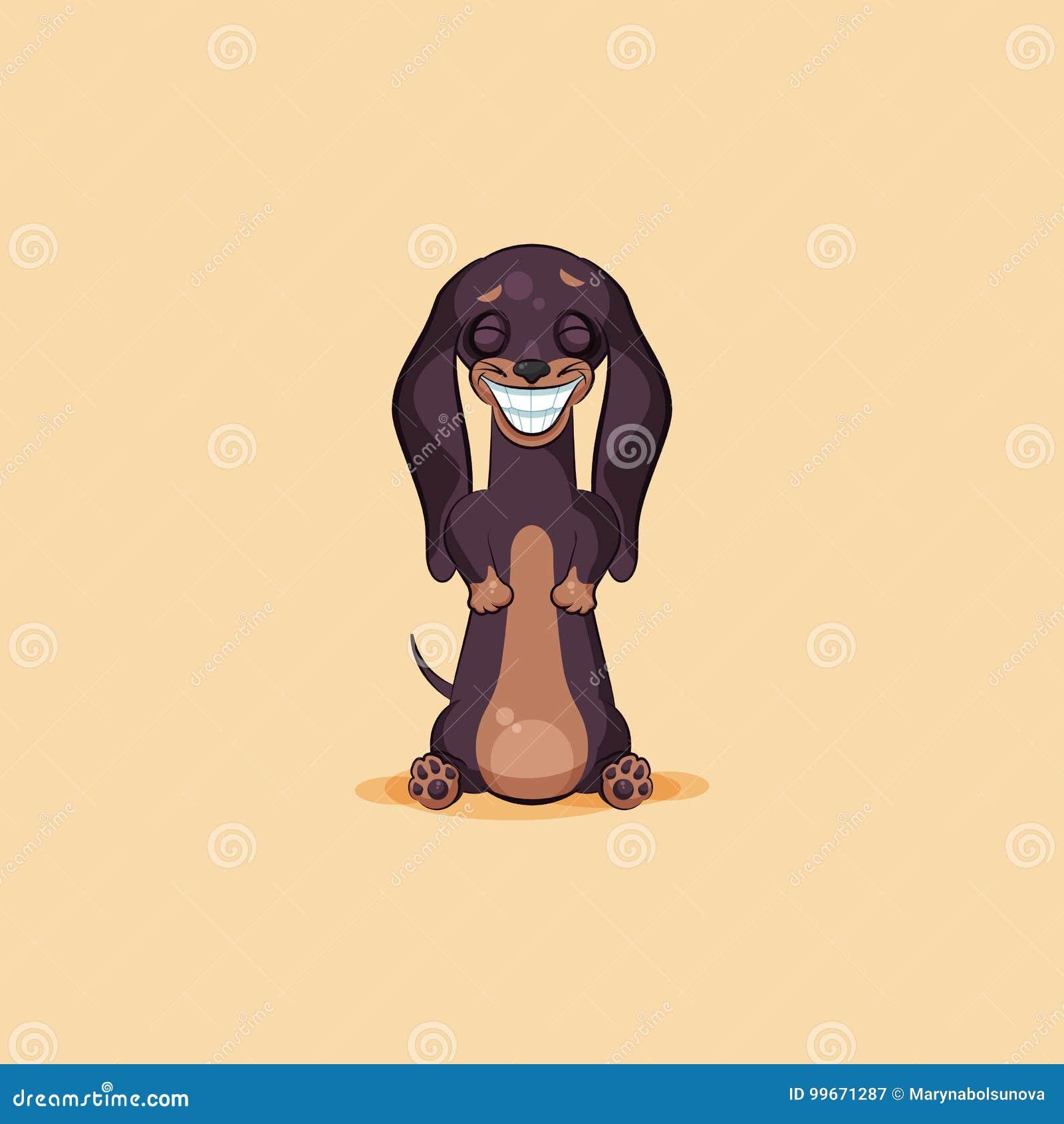 Vector il emoji di riserva dellillustrazione del talismano del cane