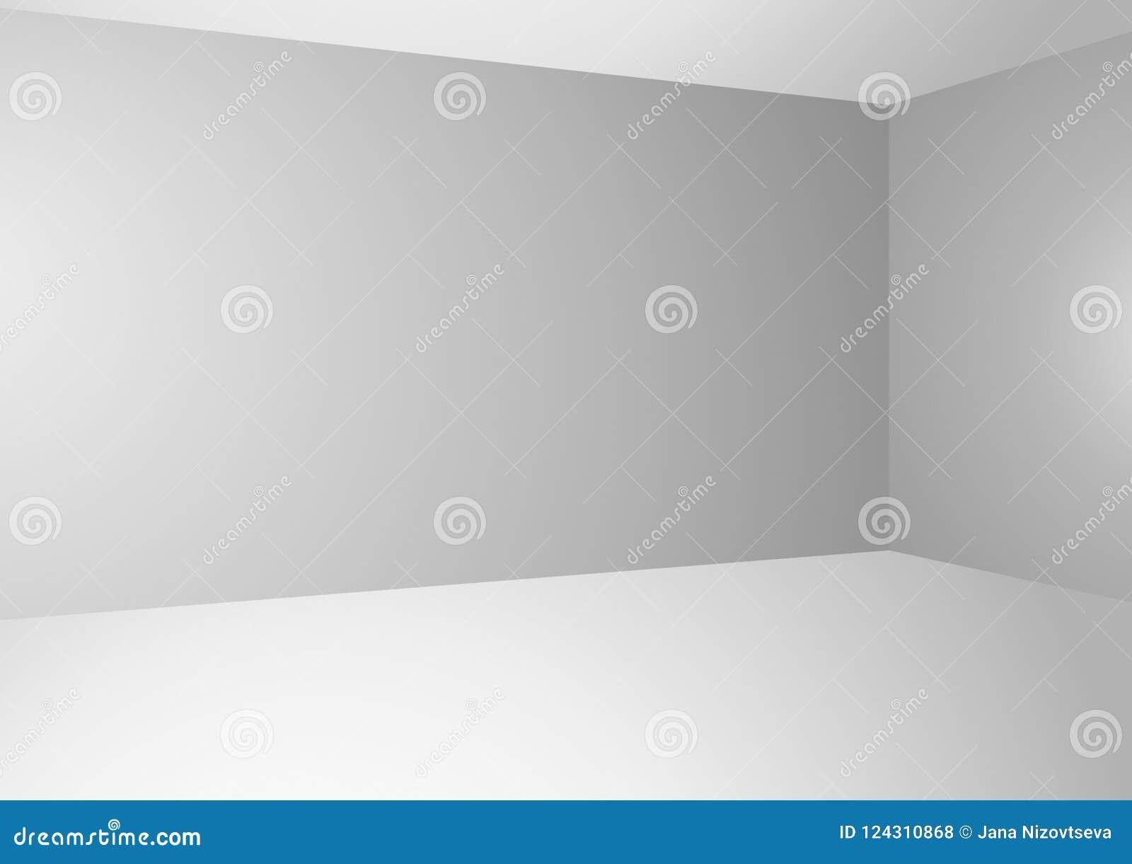 Vector il fondo con le pareti grigio chiaro di pendenza ed il pavimento bianco