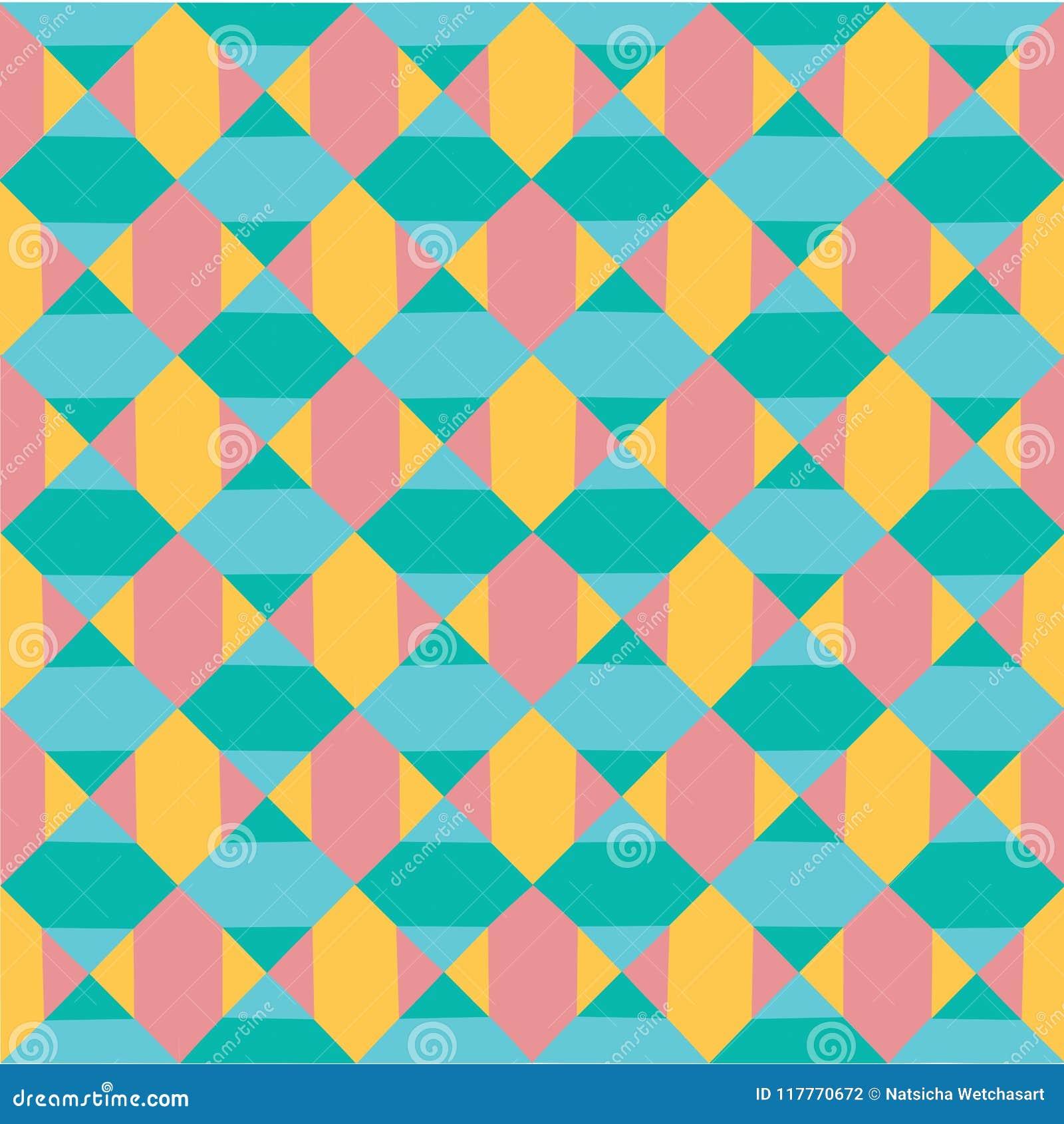 Vector il fondo senza cuciture della geometria dell estratto pastello colourful moderno del modello, retro struttura