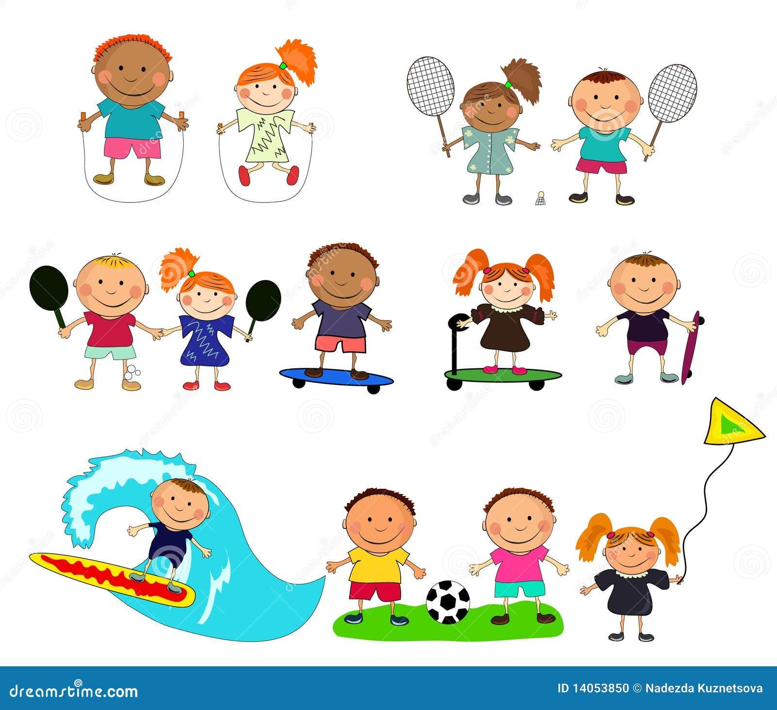 Vector Il Gioco Dei Bambini Illustrazione Vettoriale