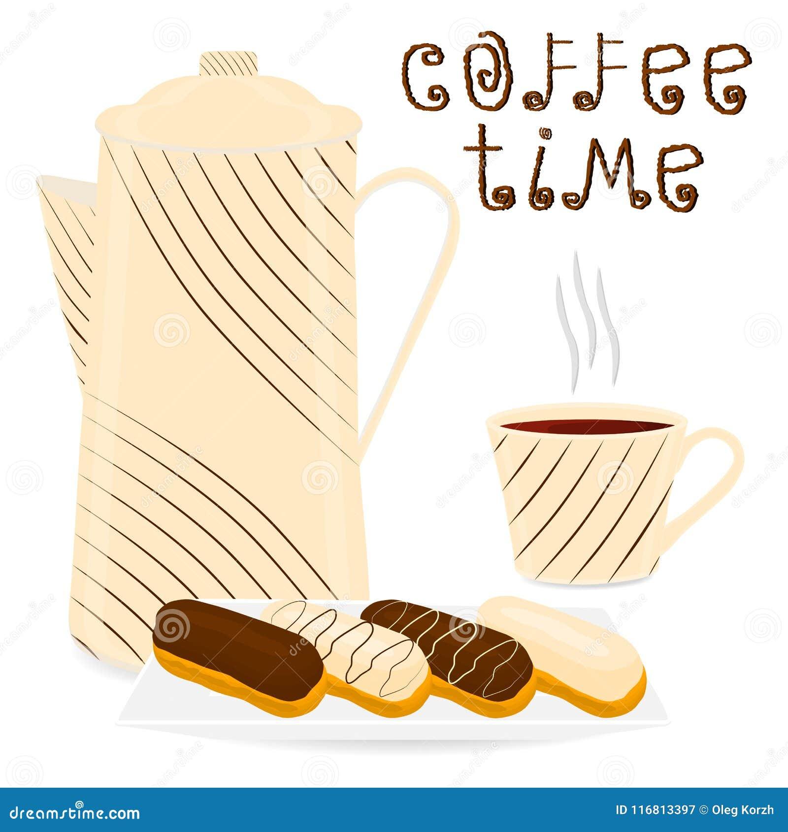 Vector il logo dell illustrazione per la tazza ceramica bianca di caffè caldo