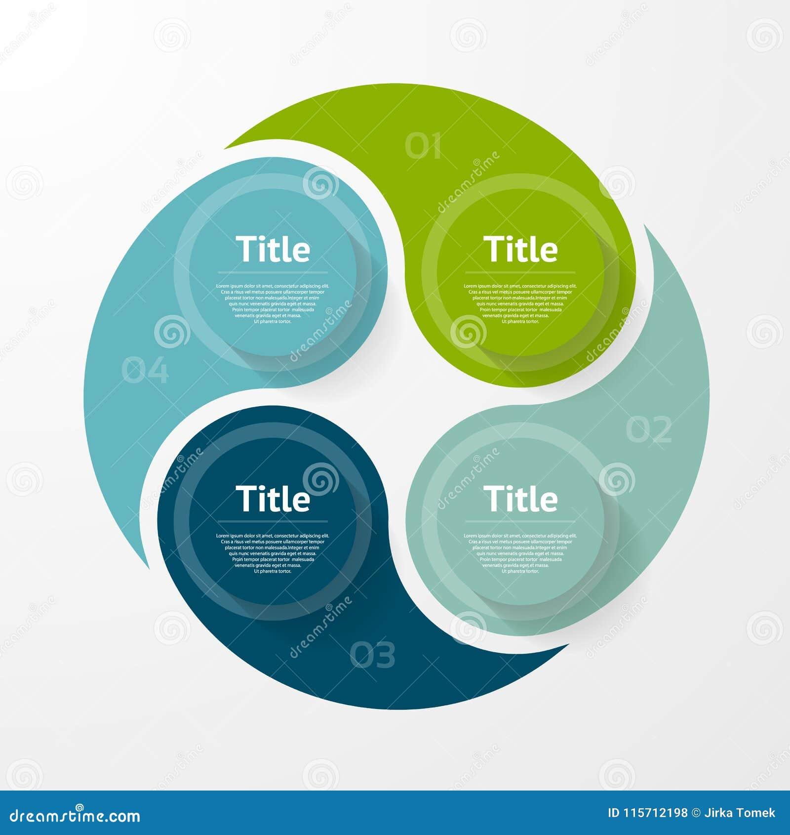 Vector il modello infographic per il diagramma, il grafico, la presentazione ed il grafico Concetto di affari con 4 opzioni, part