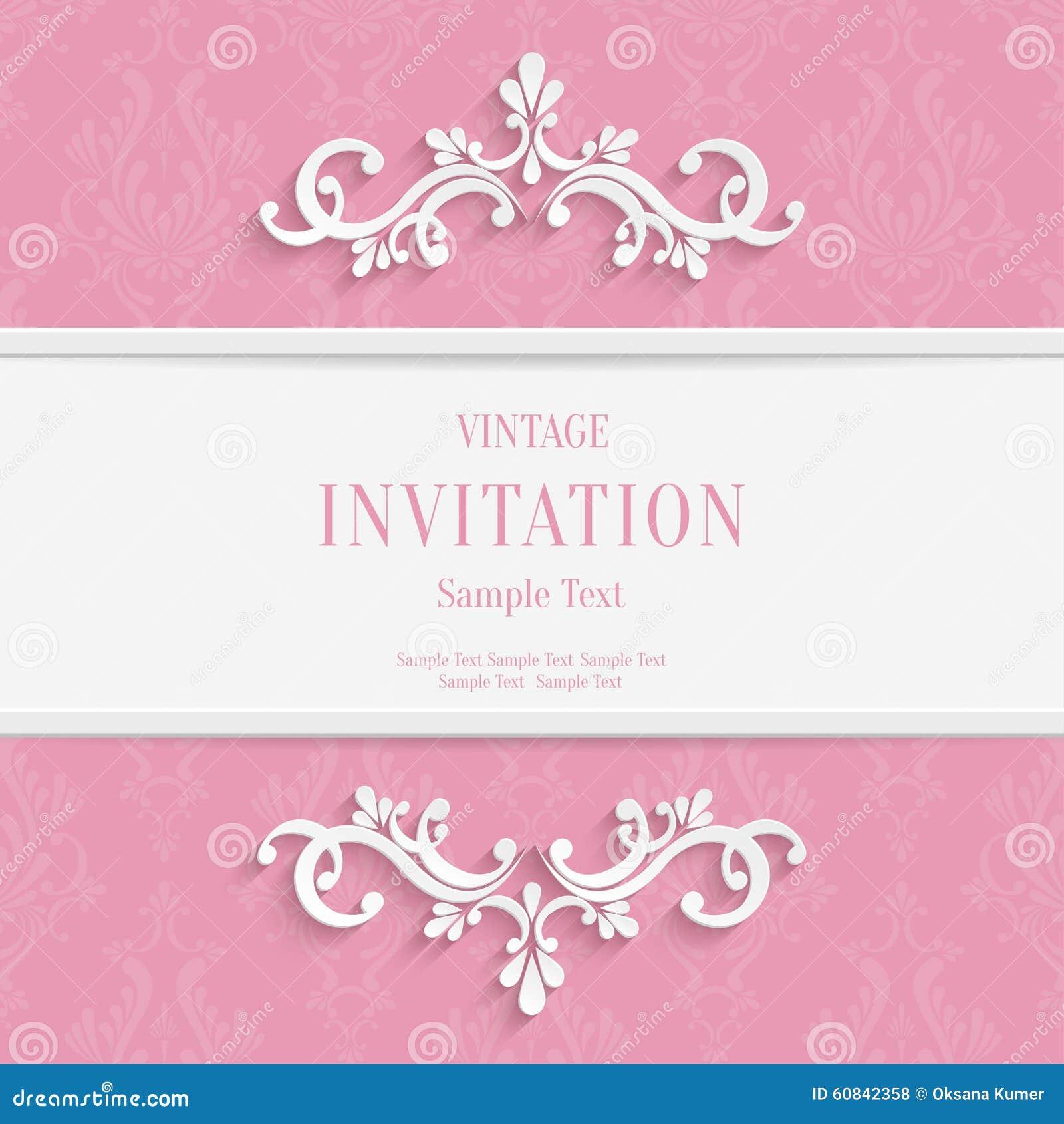 Vector il Natale 3d ed il fondo floreali rosa delle carte dell invito