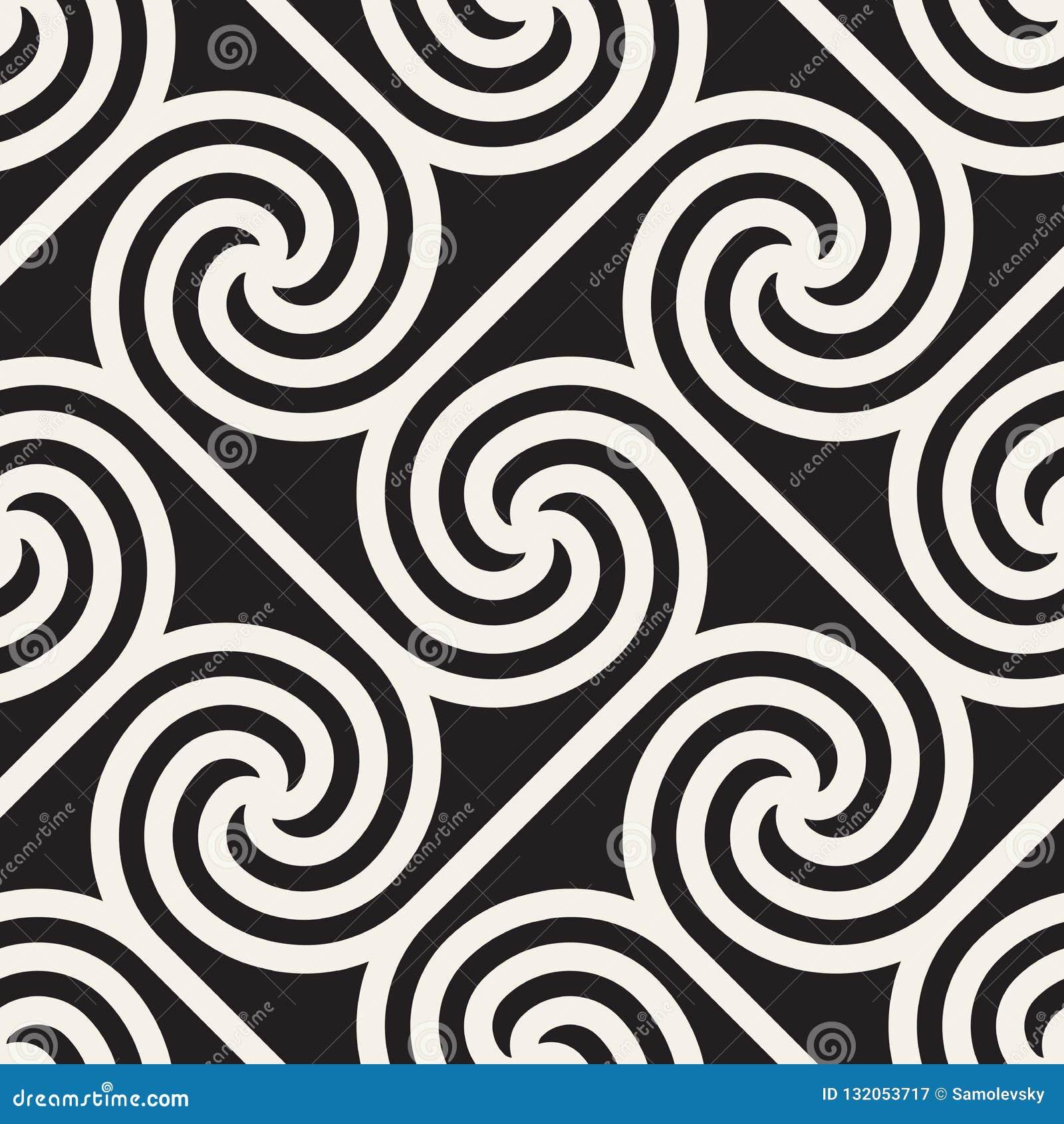 Vector il reticolo senza giunte Struttura astratta alla moda moderna Ripetizione del tilesn geometrico