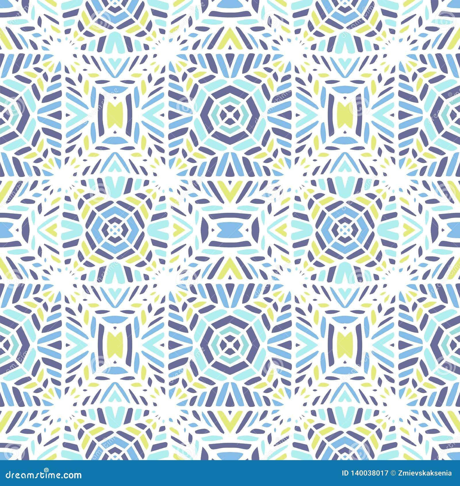 Vector illustratie Naadloos Afrikaans Patroon Etnisch tapijt met chevrons en driehoeken