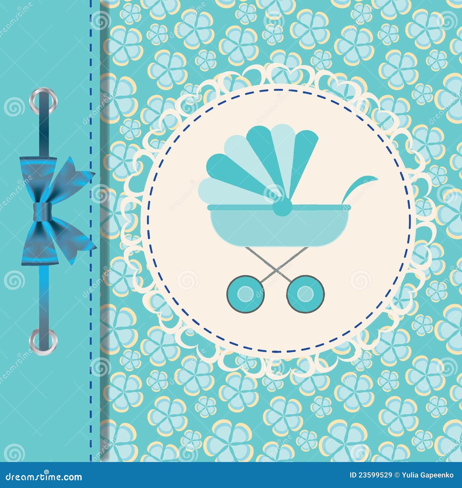 Vector illustratie van blauwe kinderwagen vector illustratie afbeelding 23599529 - Bebe ontwerp ...