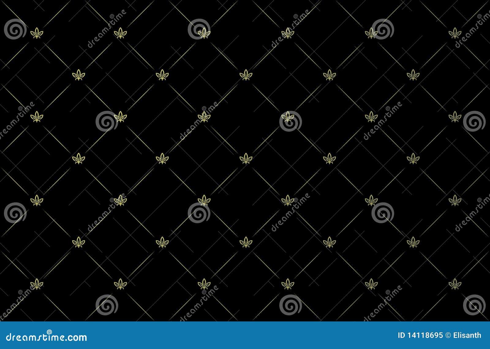 Vector illustratie van zwart uitstekend behang royalty vrije stock foto afbeelding 14118695 - Behang zwart en goud ...