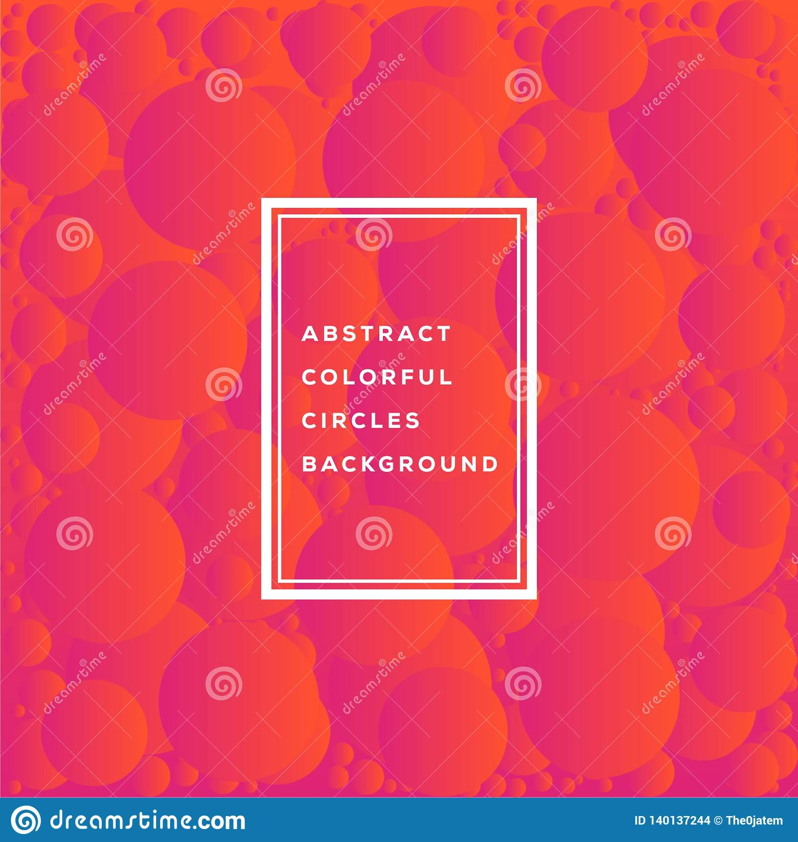 Vector illustration of abstract colorful circles template design for background. Glowing bubbles circle with gradient on white.