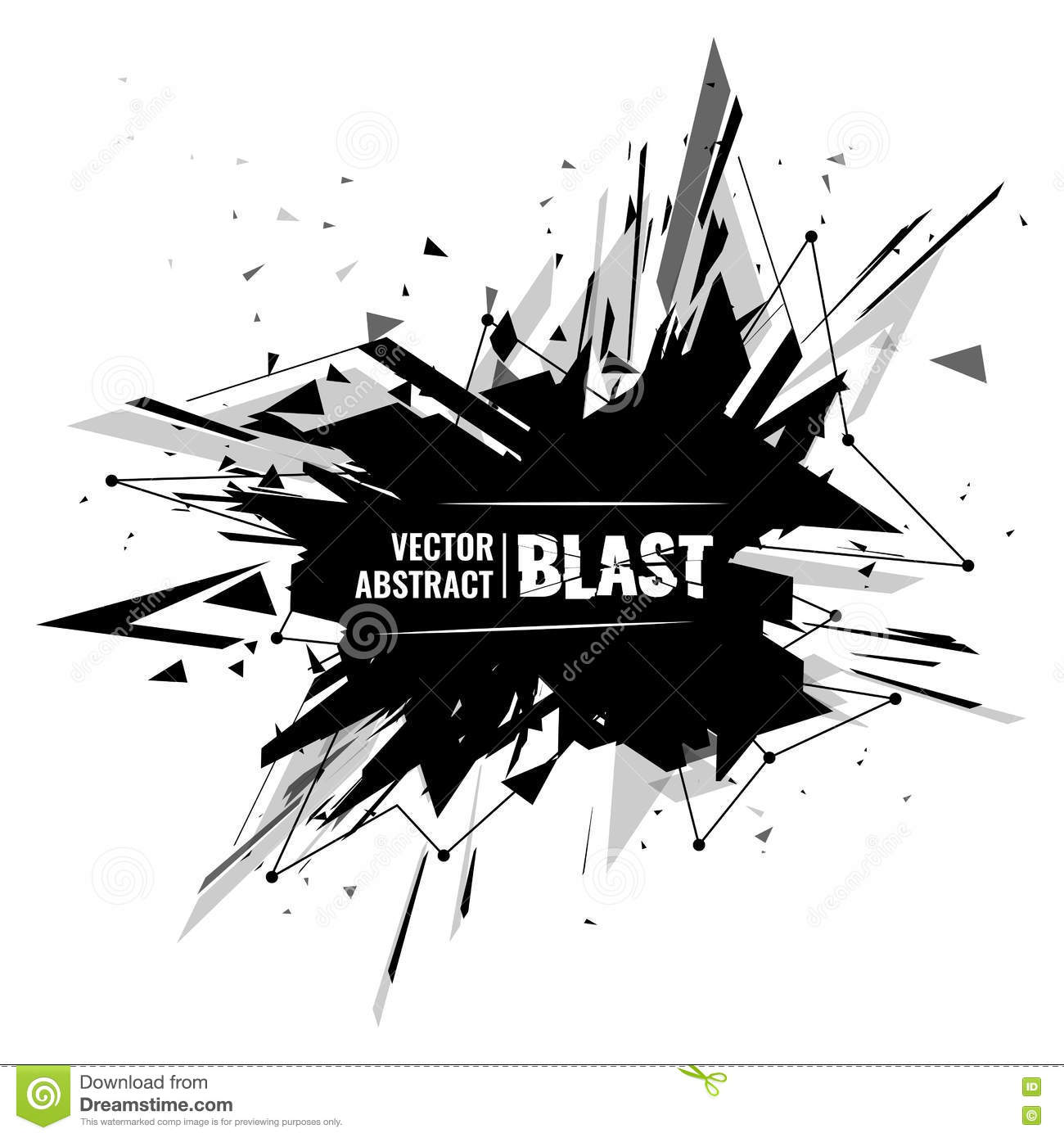 vector illustration of an abstract explosion stock vector illustration of logo center 71614734 dreamstime com