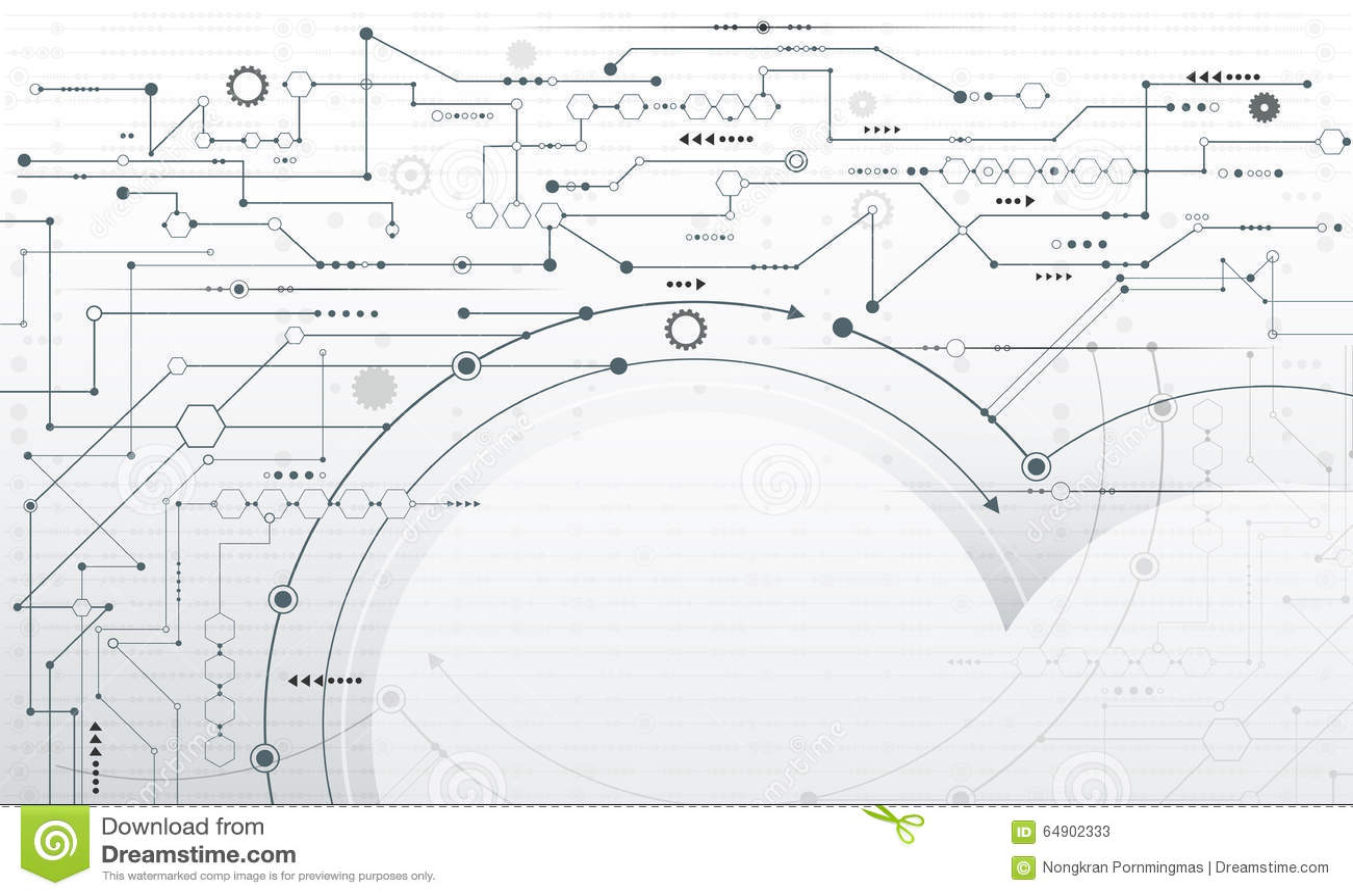 vector illustration abstract futuristic circuit board stock vector