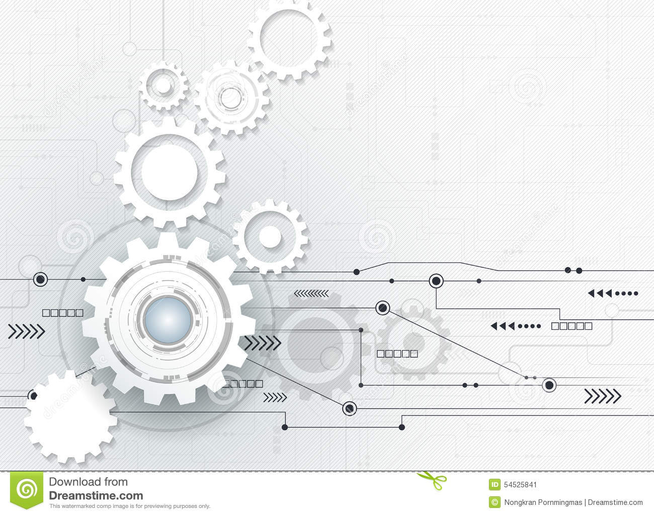 Vector Illustration Abstract Futuristic 3d White Paper