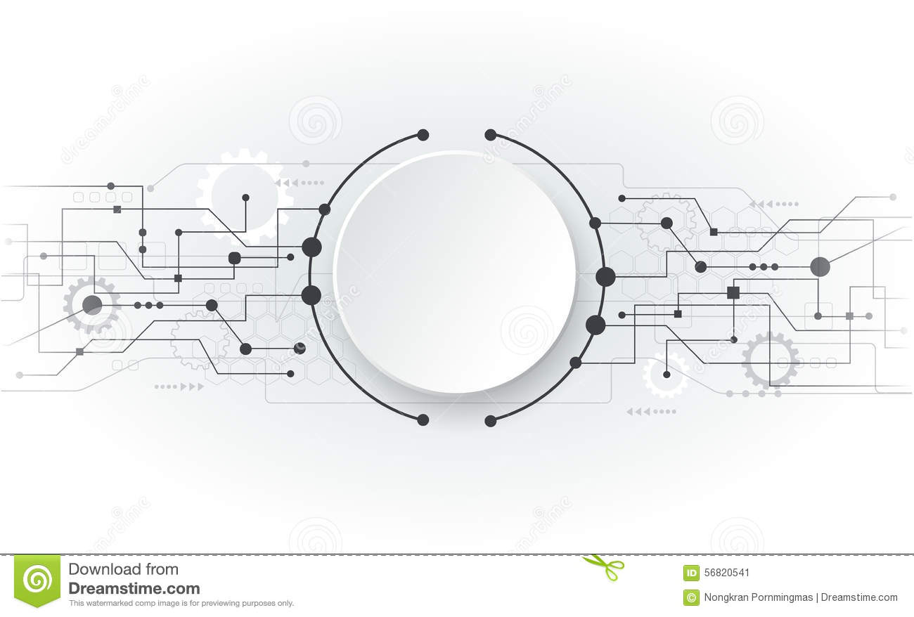 vector illustration abstract futuristic white circuit board stock vector image 56820541