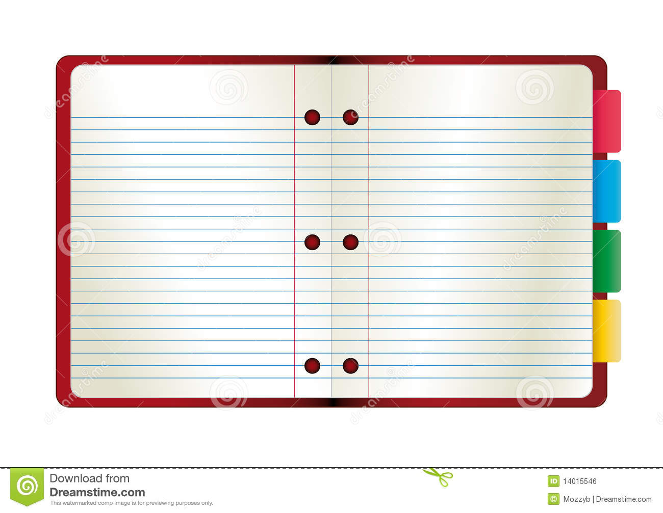 Vector illustration abstract paper notebook.