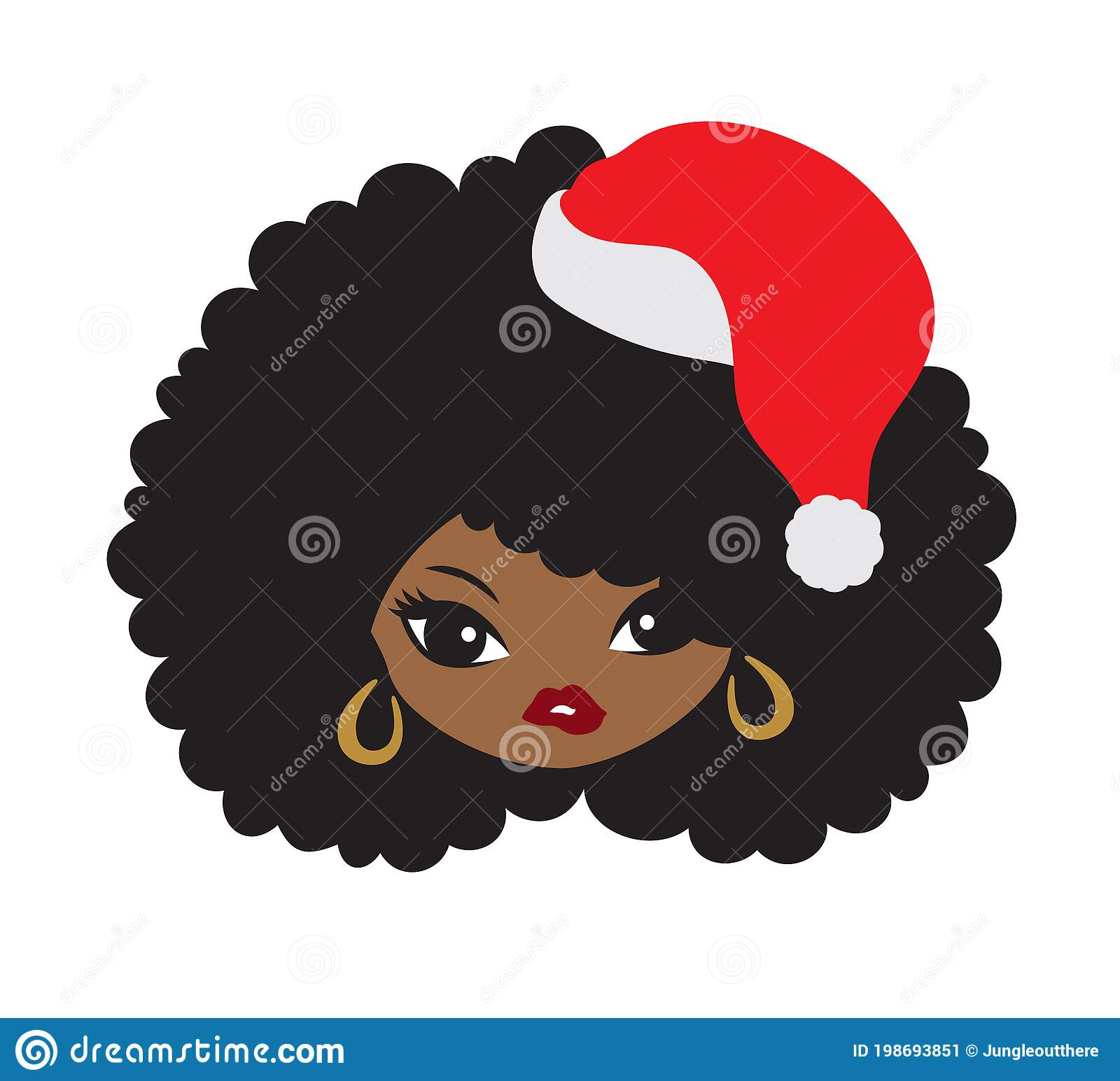 Girl afro clipart black clipart afro