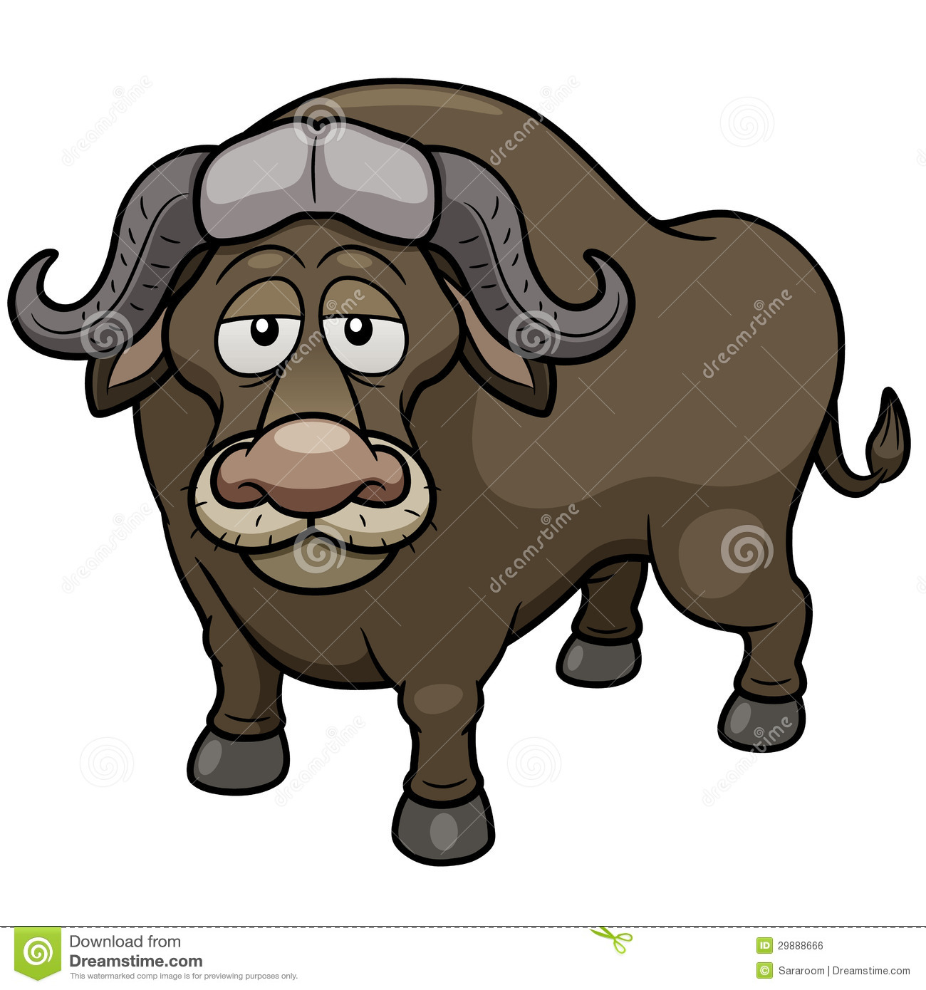 African Buffalo Cartoon Royalty Free Stock Image - Image: 29888666