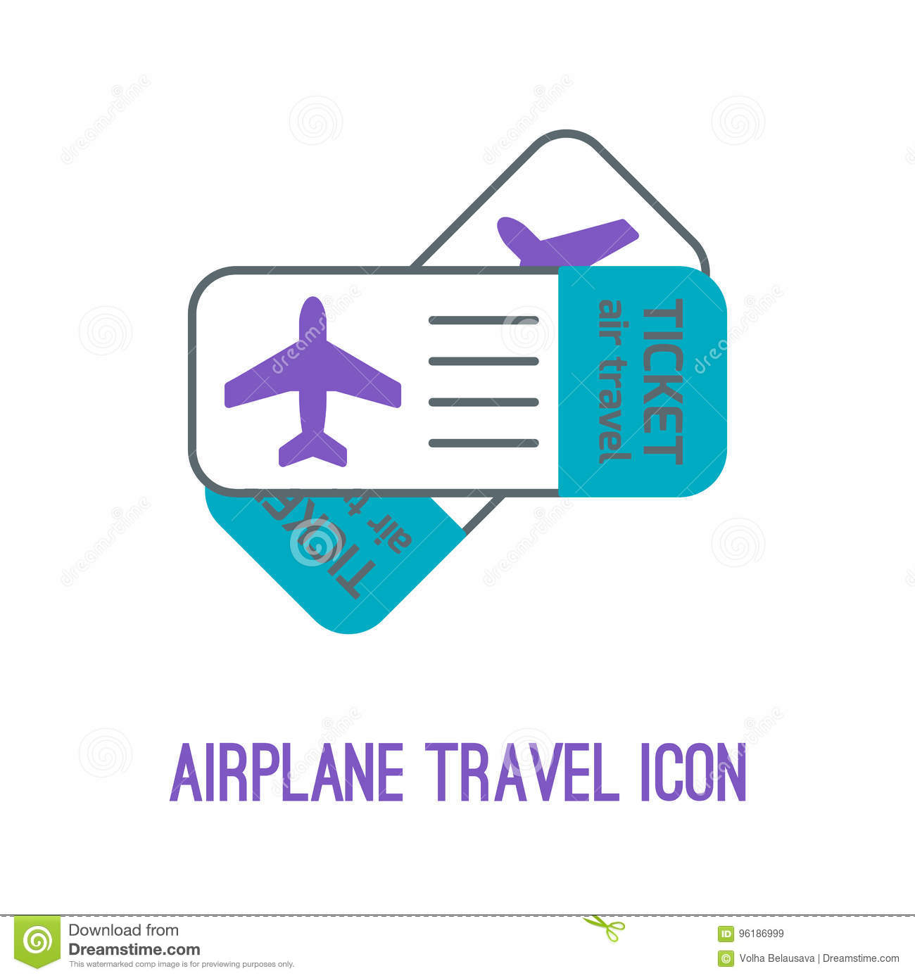 Vector Illustration Of Airplane Travel Stock Vector