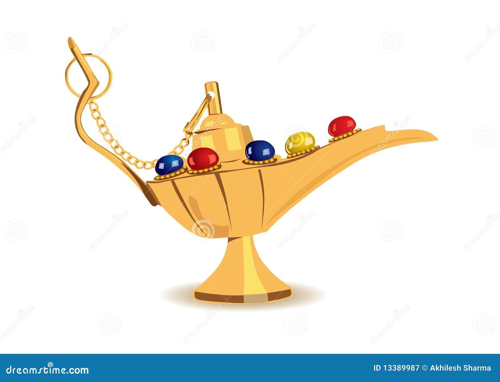 Vector Illustration Of Aladdin's Magic Lamp Royalty Free ...