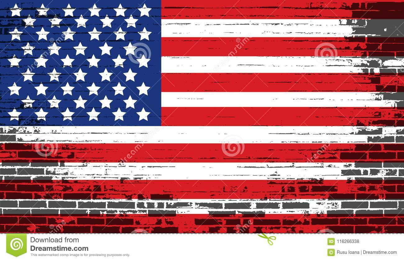 Distressed American National Flag United States Flag Stock Vector Illustration Of American Freedom 116266338