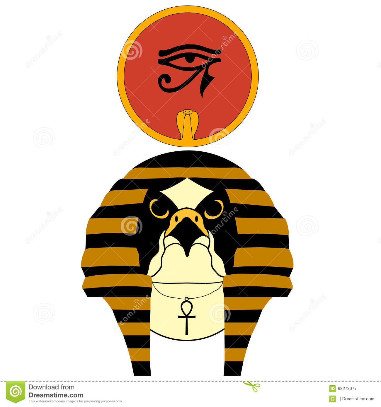 Vector Illustration Of The Ancient Egyptian God Ra Stock Vector