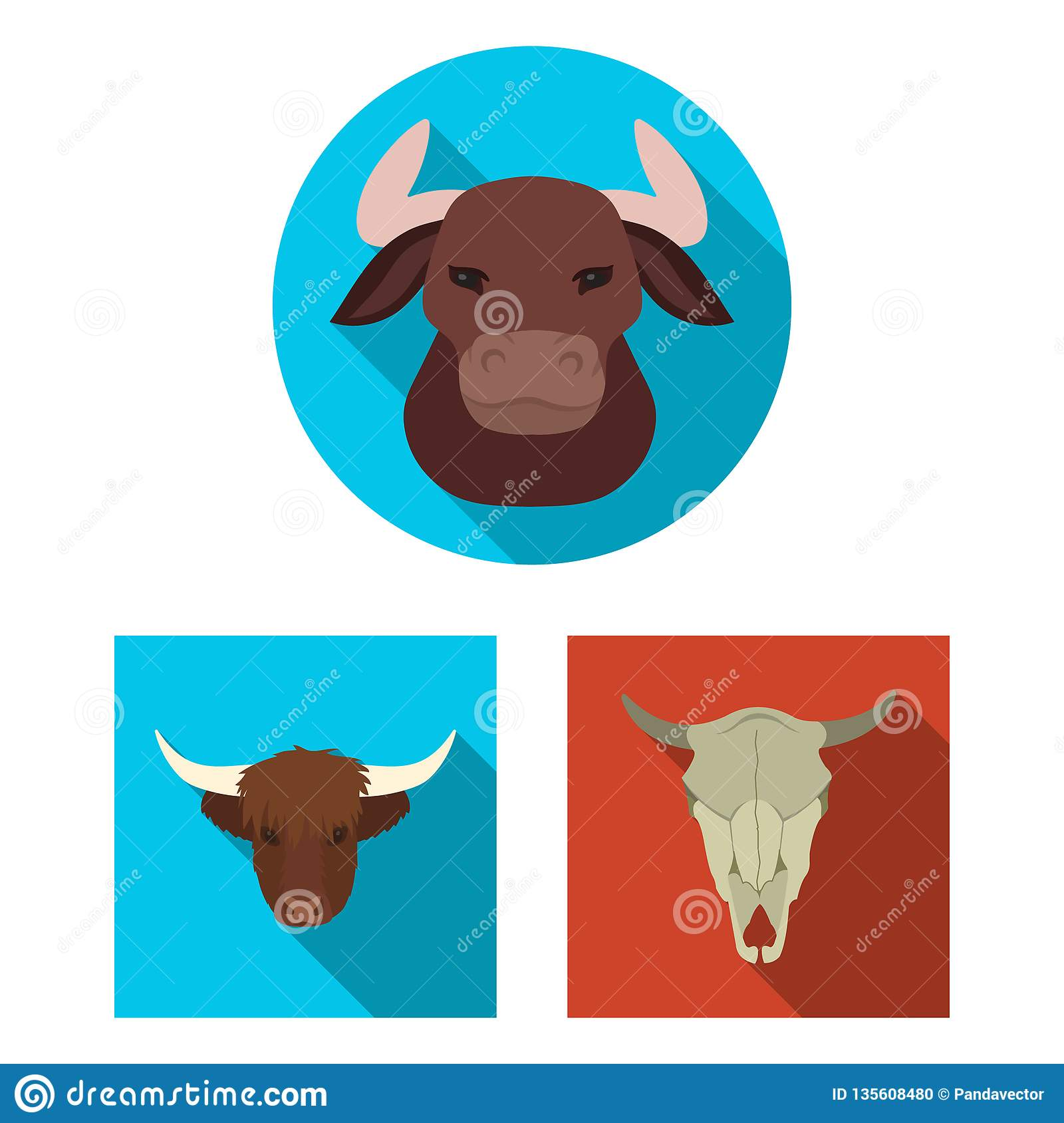 Vector design of antler and animal logo. Set of antler and death stock vector illustration.