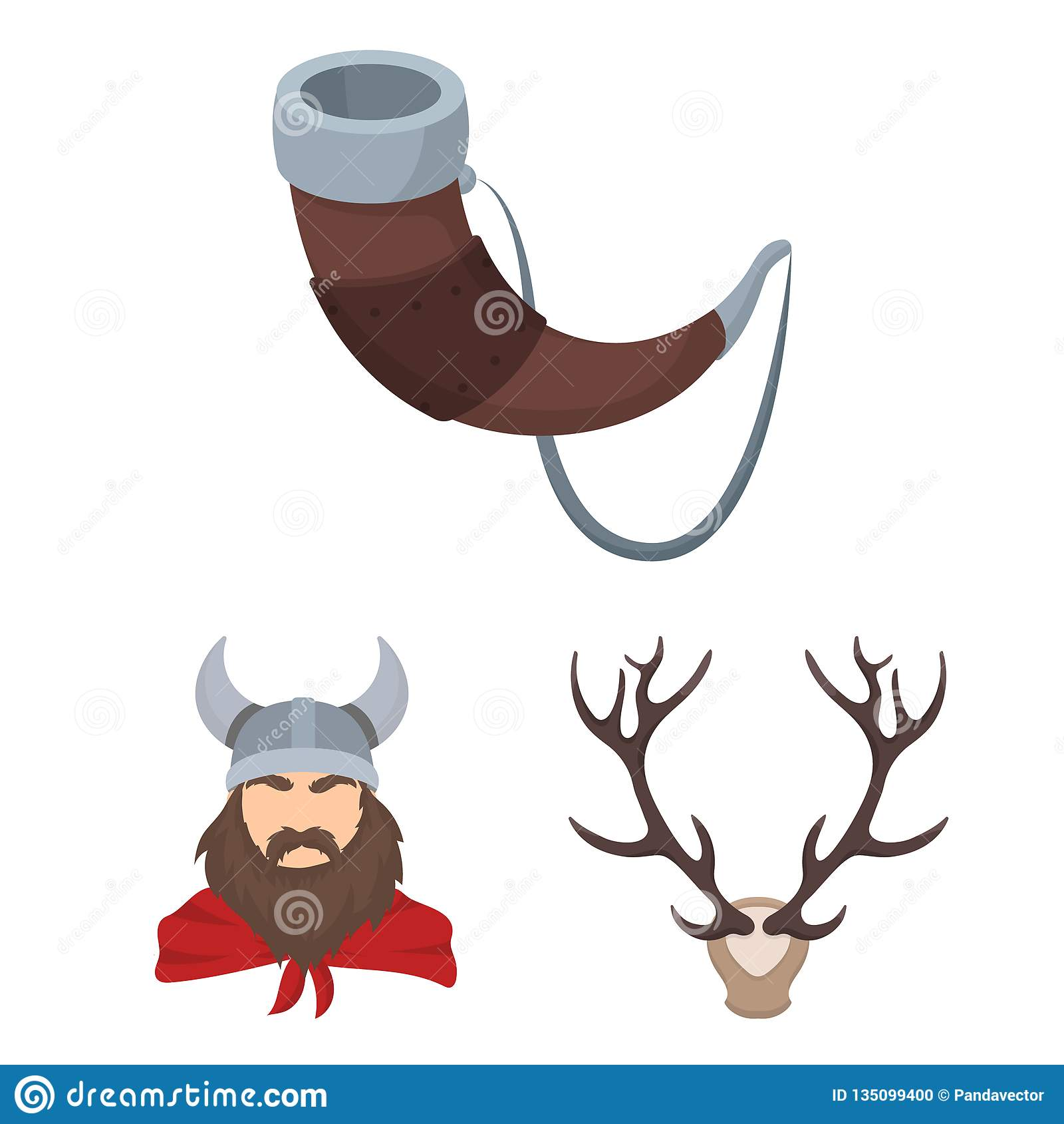 Vector design of antler and animal icon. Collection of antler and death vector icon for stock.