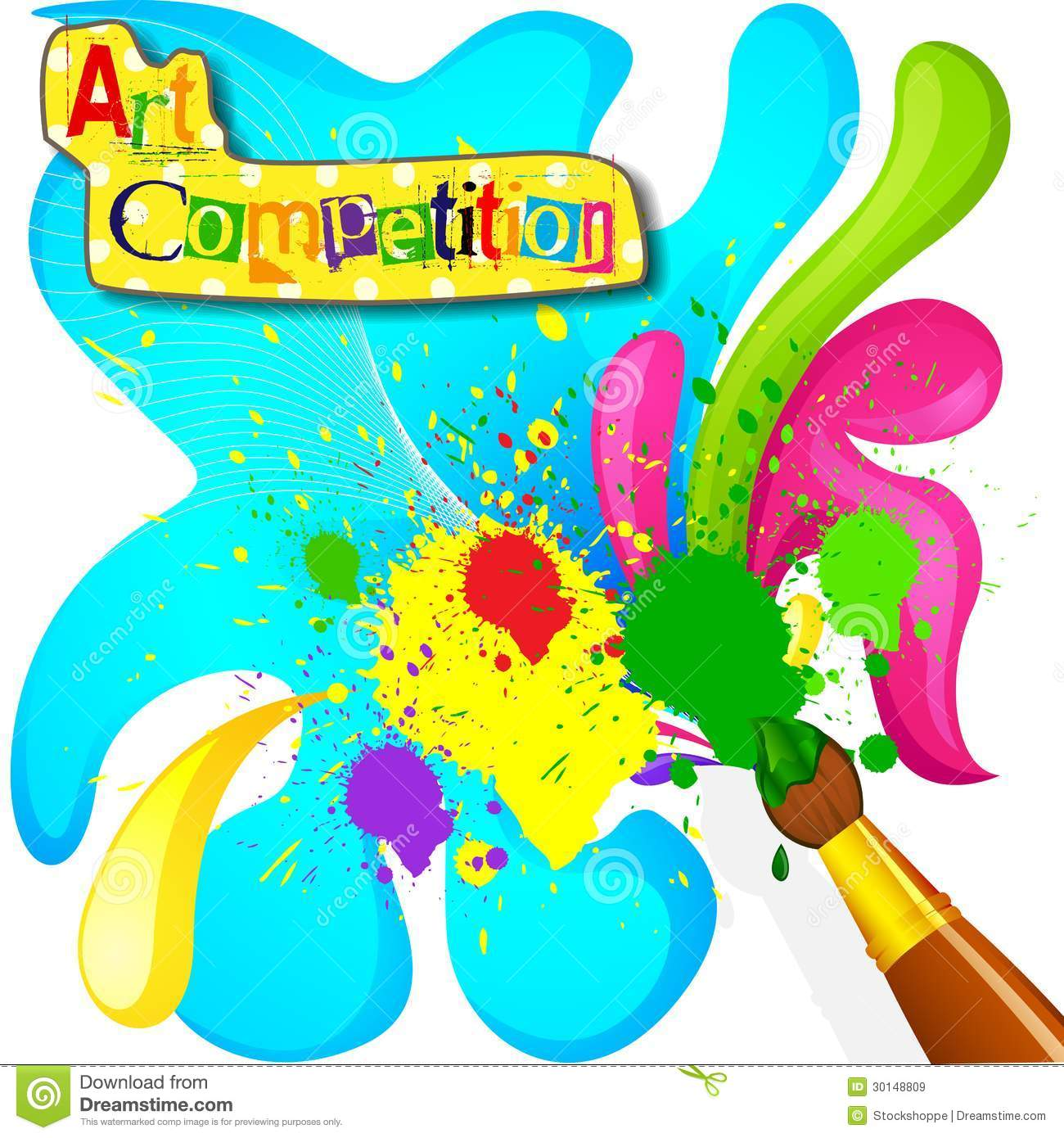 Art And Painting Competition Poster