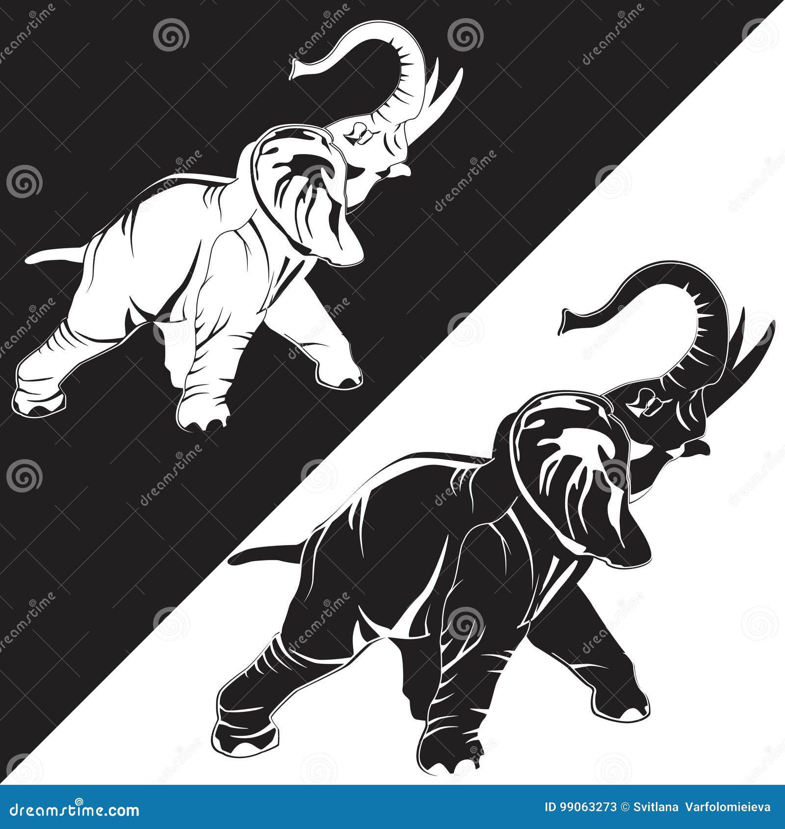 Vector Flat Illustration Of Asian Elephant Stock Vector ...