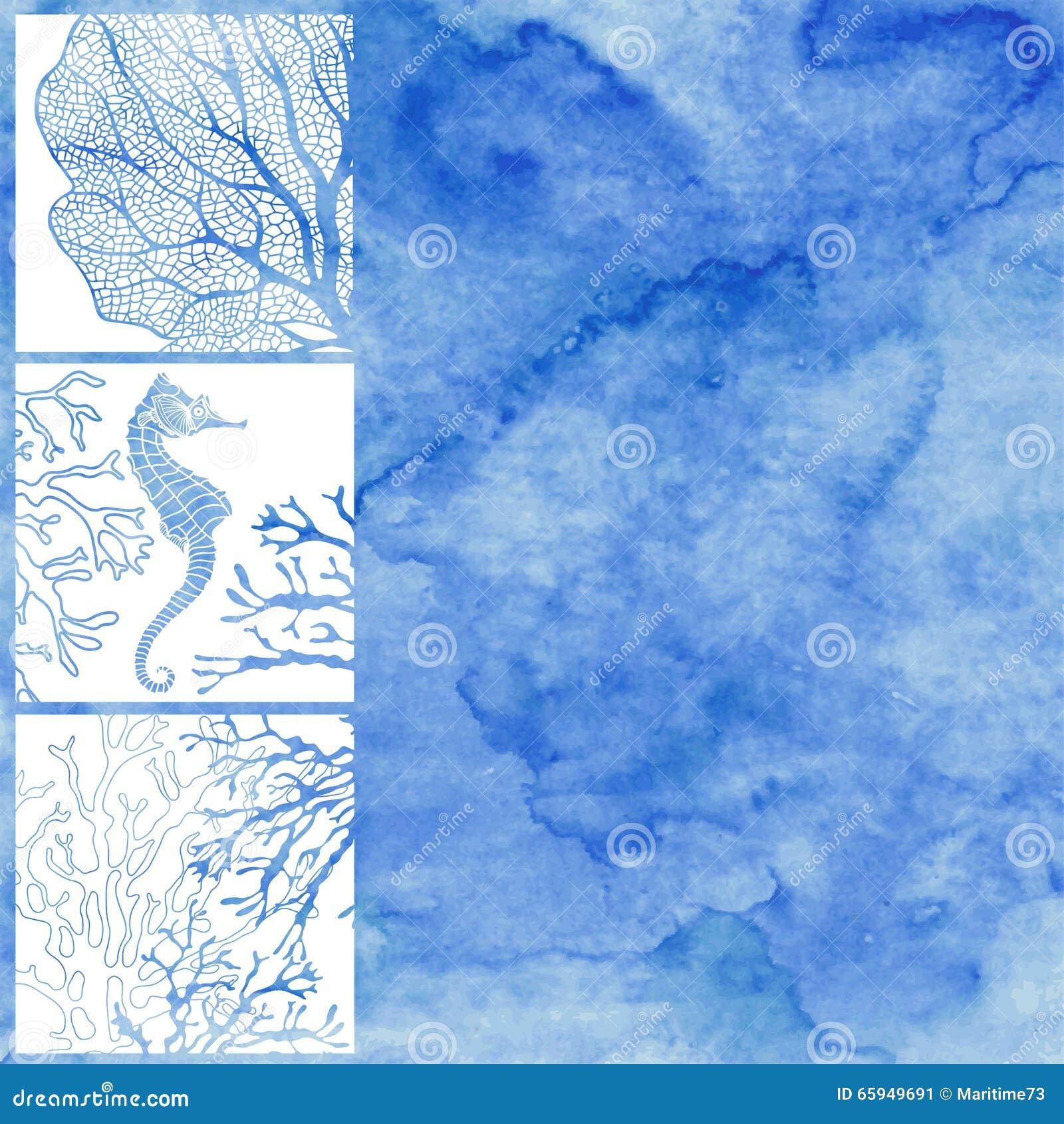 Vector Illustration auf dem Marinethema mit Raum für Text auf a