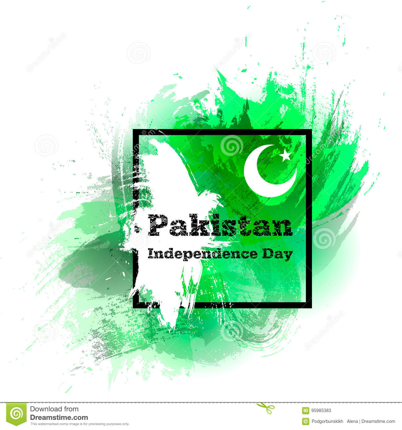 Vector Illustration For 14 August Pakistan Independence Day In