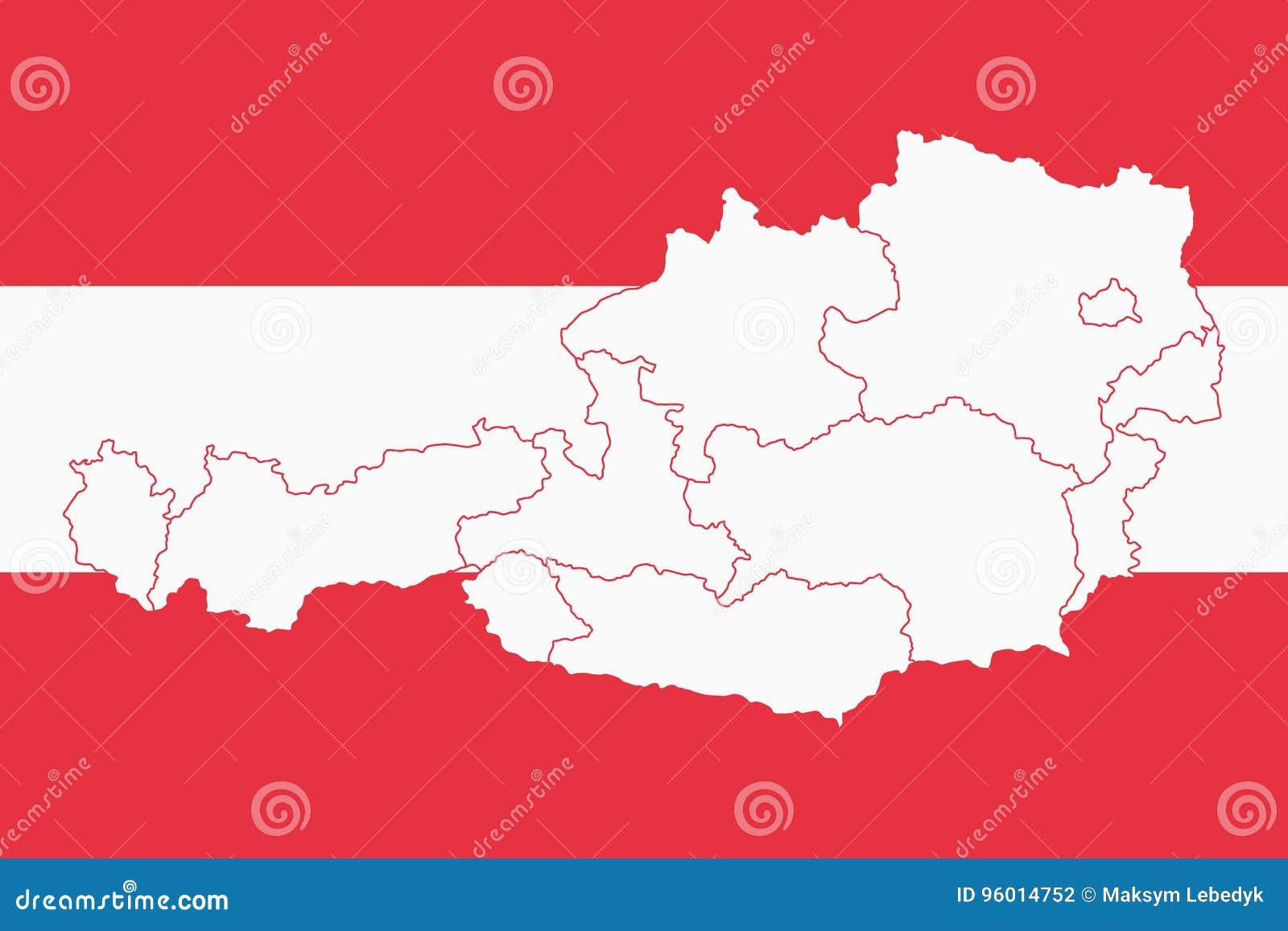 Vector Illustration Of Austria Flag Map Stock Vector ...