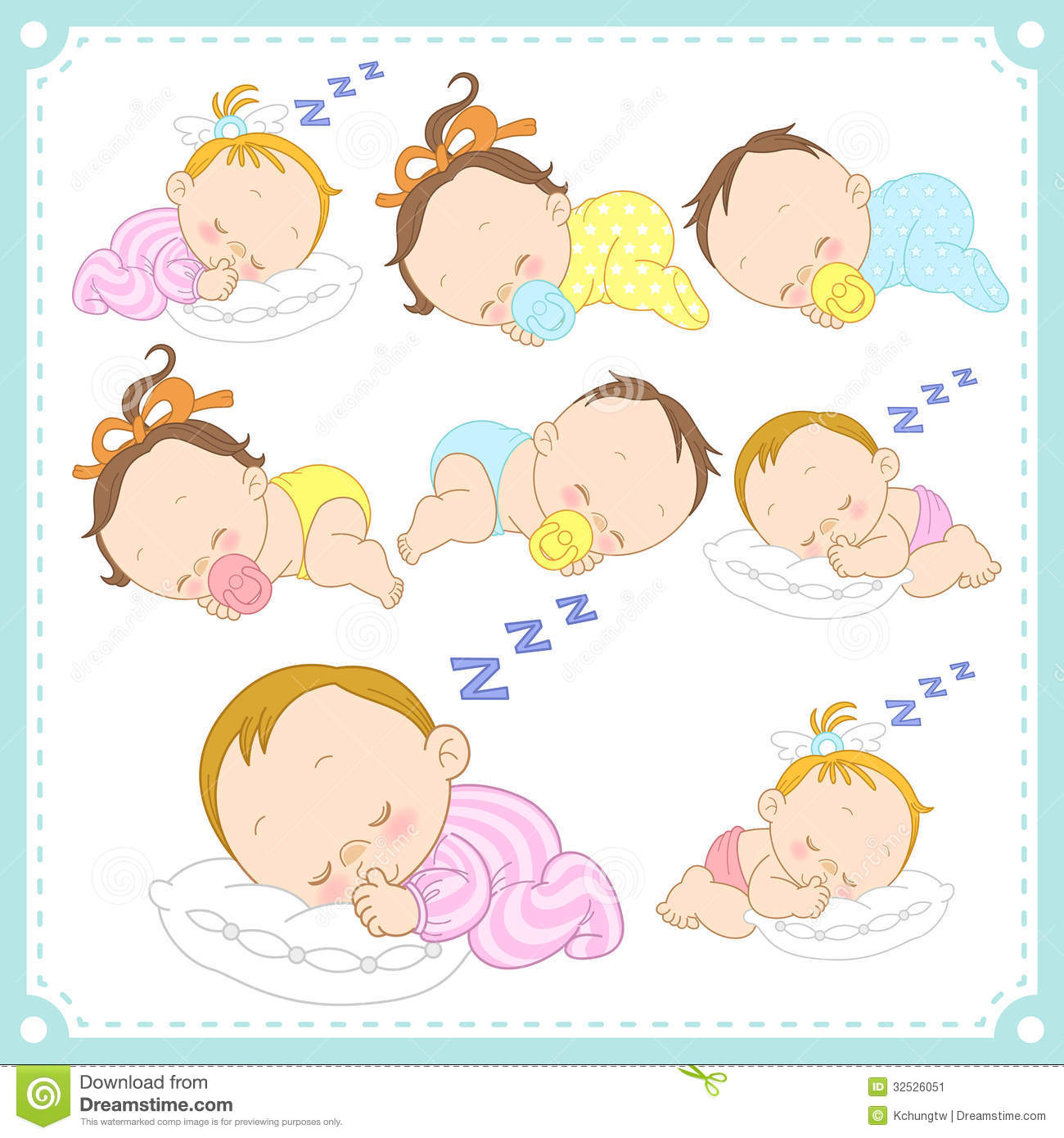 Vector Illustration Of Baby Boys And Baby Girls Stock ...
