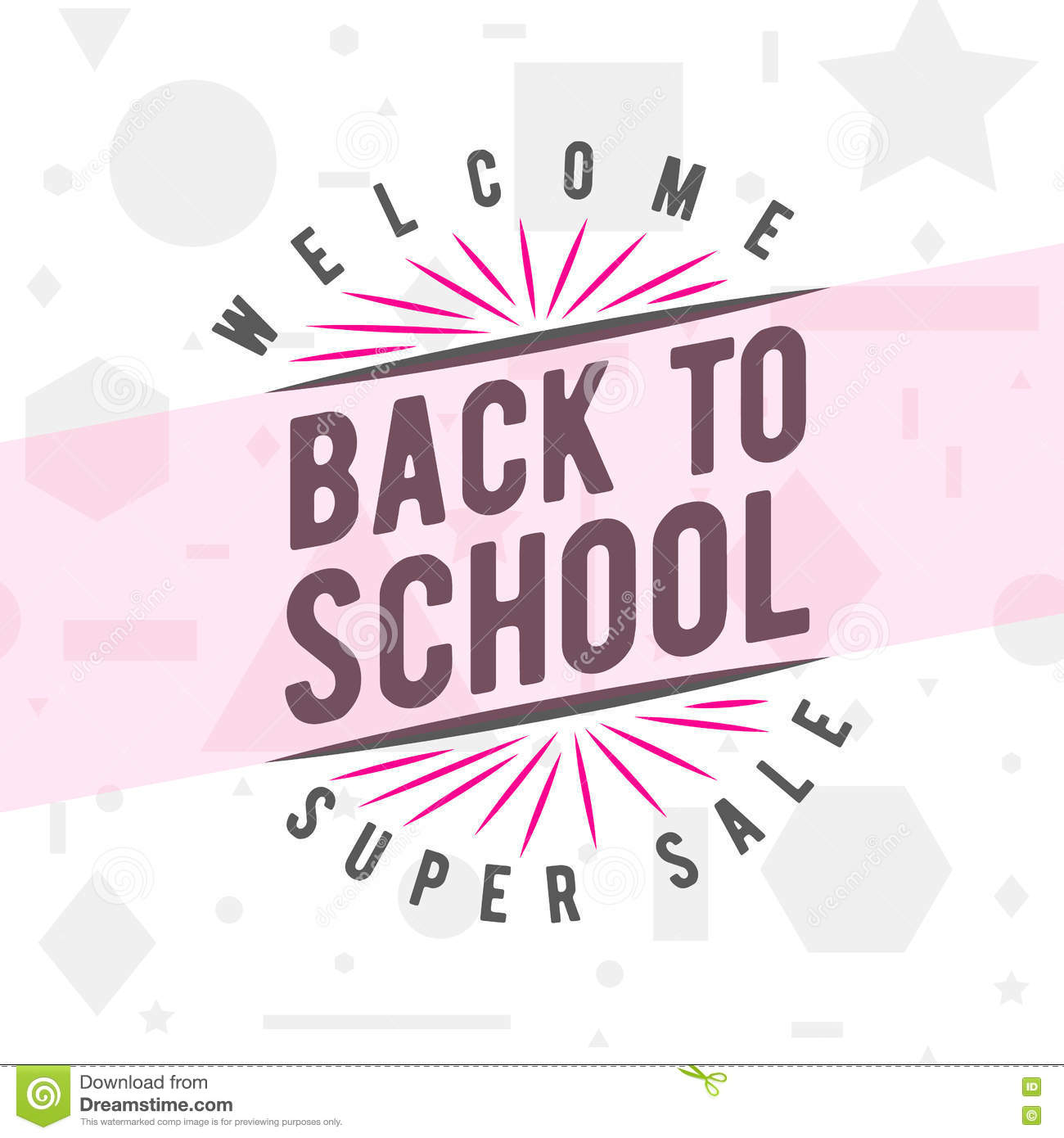 Vector illustration of back to school greeting card with typography vector illustration of back to school greeting card with typography element on seamless geometric background m4hsunfo