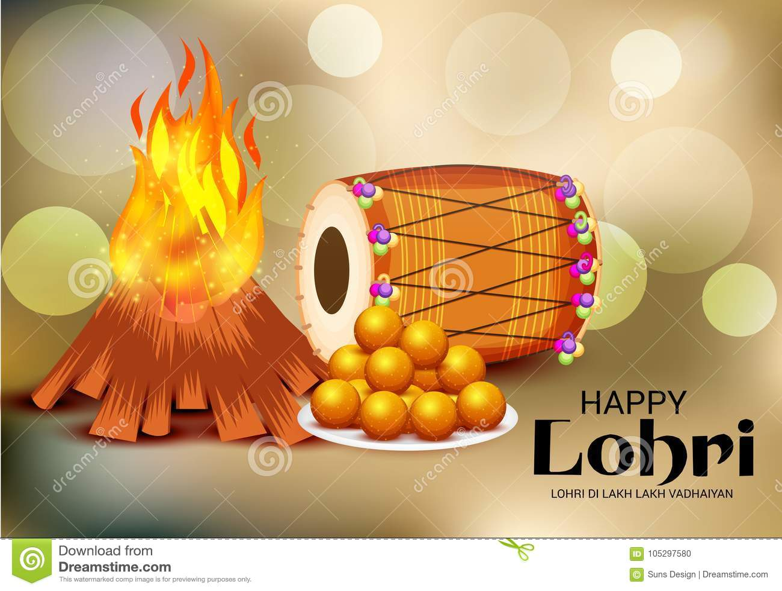 Happy lohri festival celebration stock illustration illustration download happy lohri festival celebration stock illustration illustration of greeting harvest 105297580 m4hsunfo