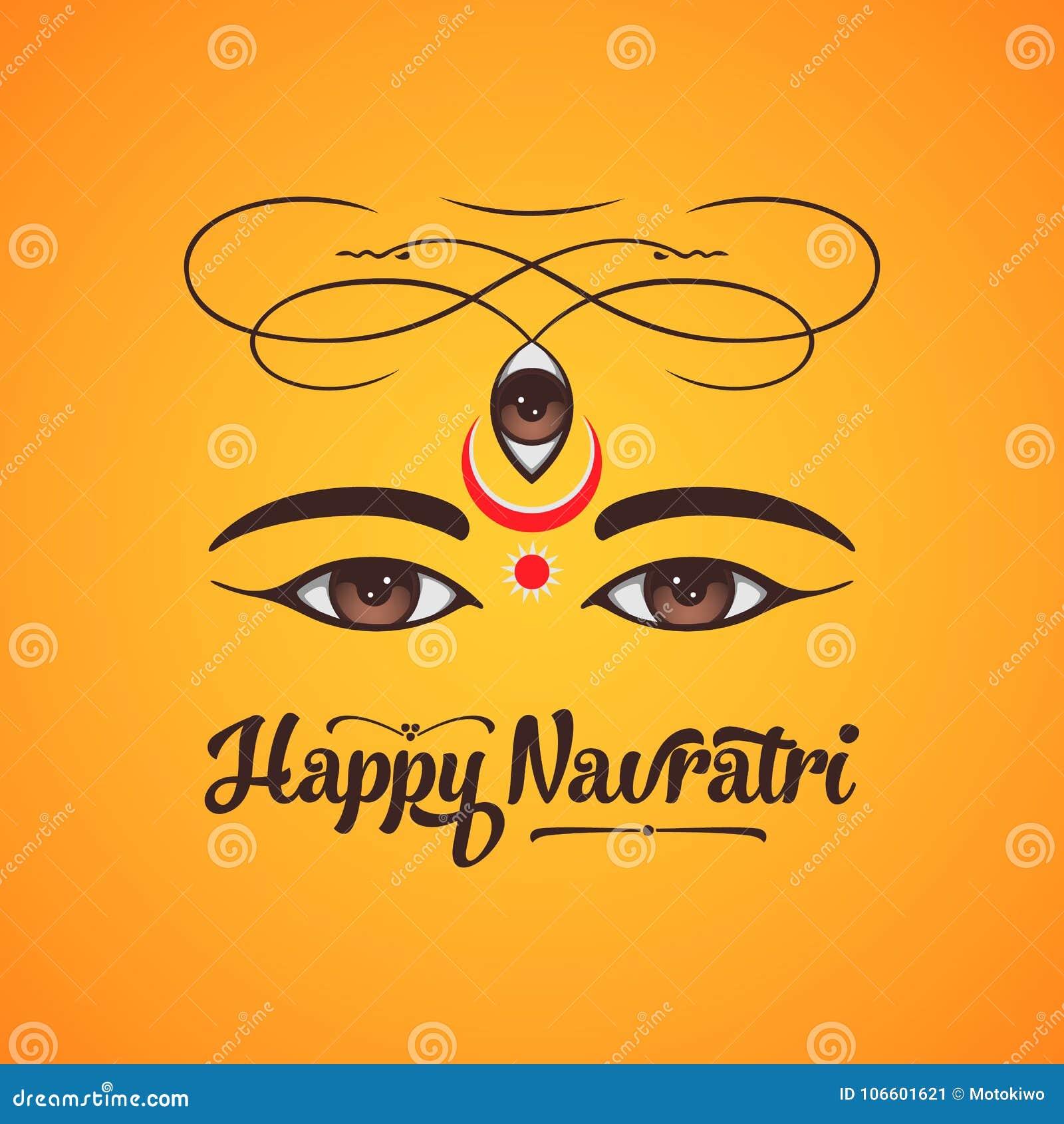 Happy navratri greeting card design stock illustration happy navratri greeting card design m4hsunfo