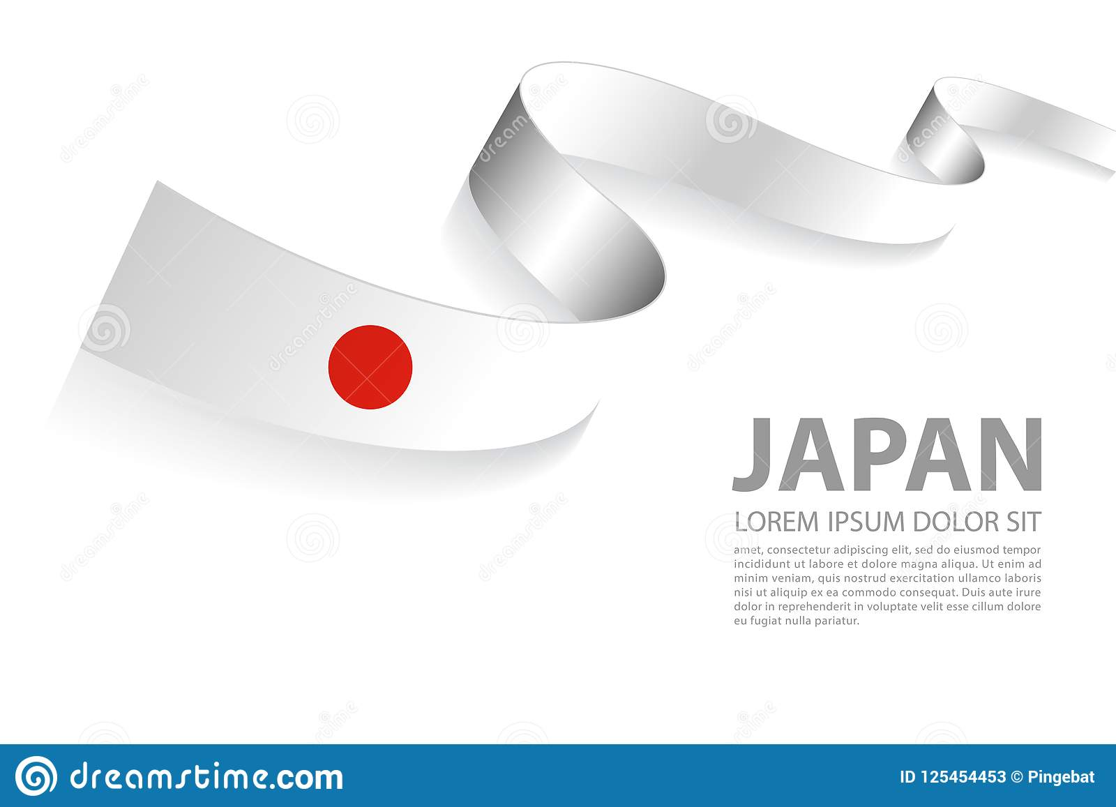 Vector Banner With Japan Flag Colors Stock Vector ...