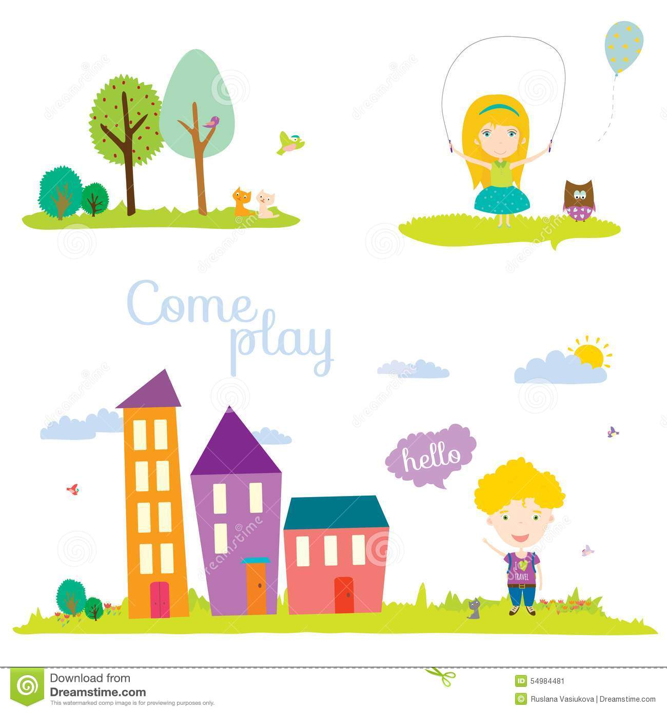 Vector Illustration Banners For Tourism Or Camp Stock
