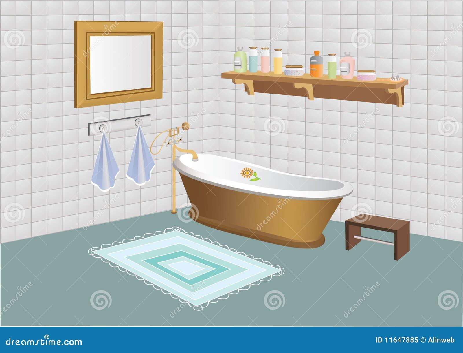 Vector illustration of bathroom royalty free stock photo image 11647885 - Image of bathroom ...