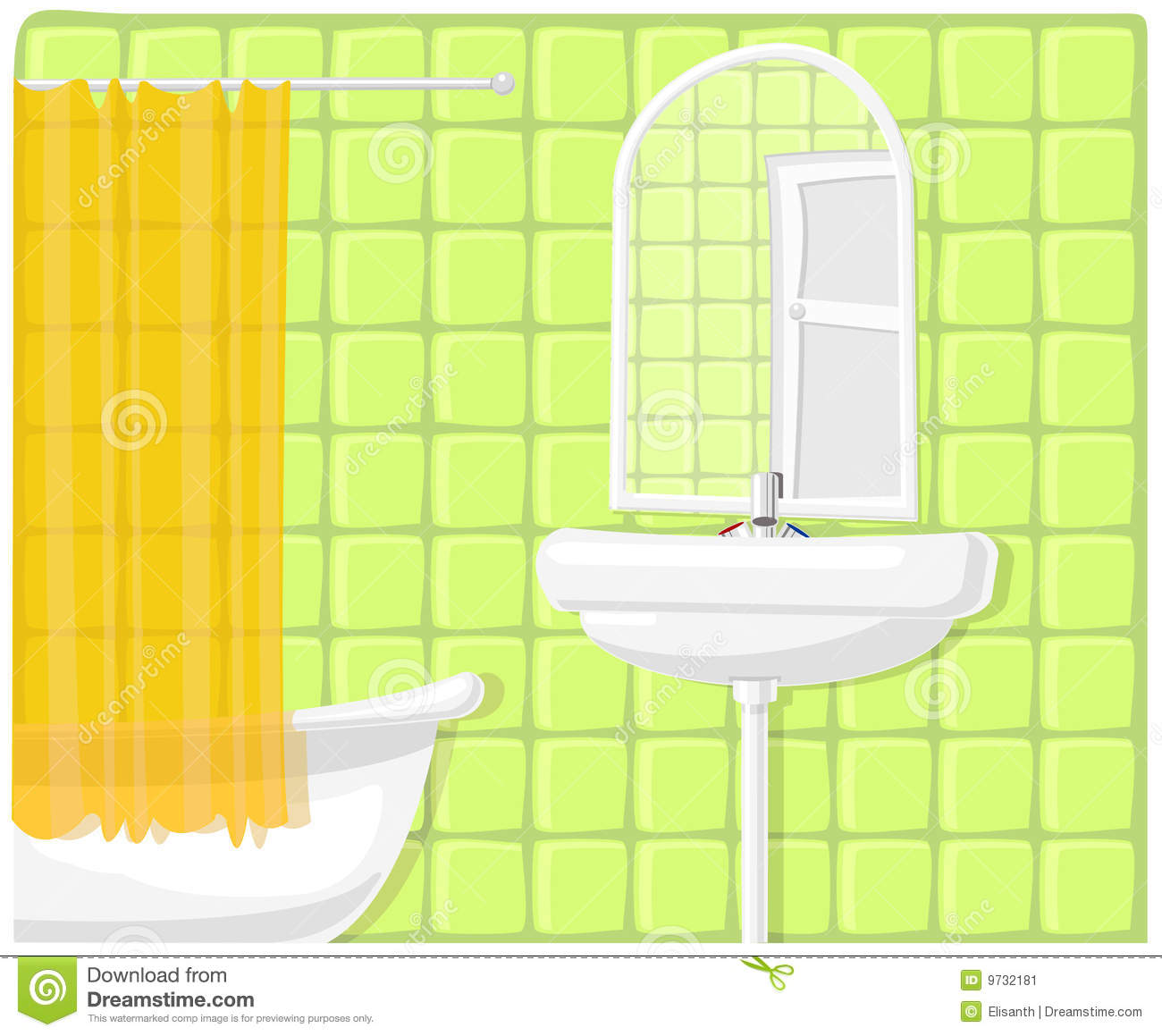 Vector Illustration Of Bathroom Stock Image