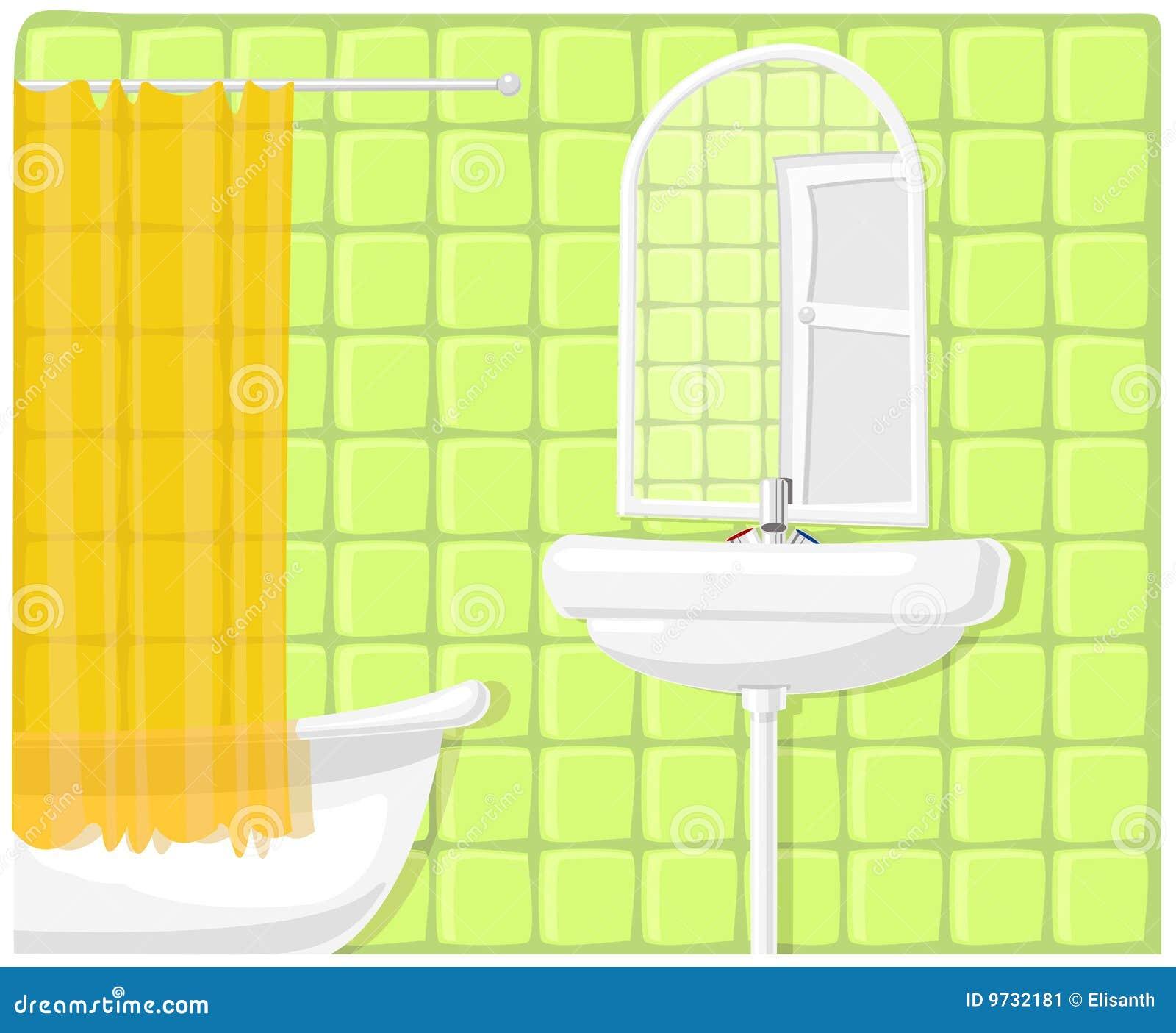 Vector illustration of bathroom stock image image 9732181 - Image of bathroom ...