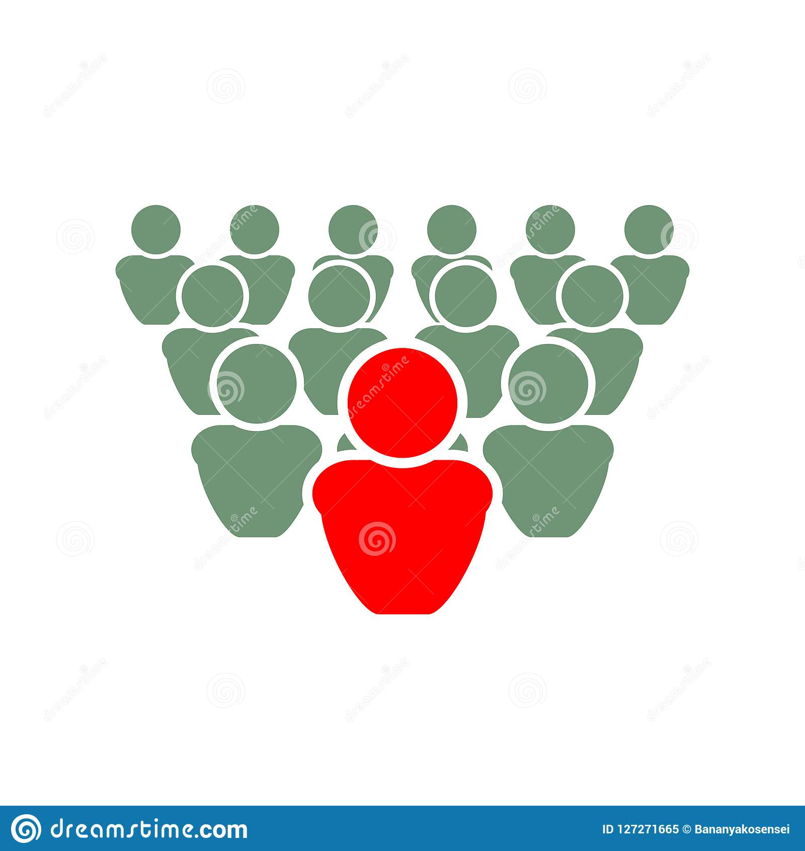 Vector Illustration: Be Different, Leader Concept.