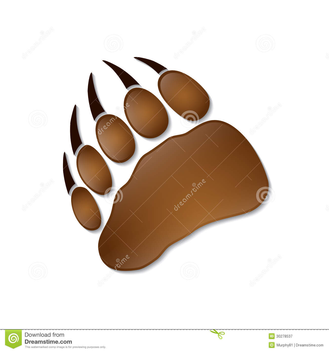 Bear Footprint Royalty Free Stock Photography - Image: 30278537