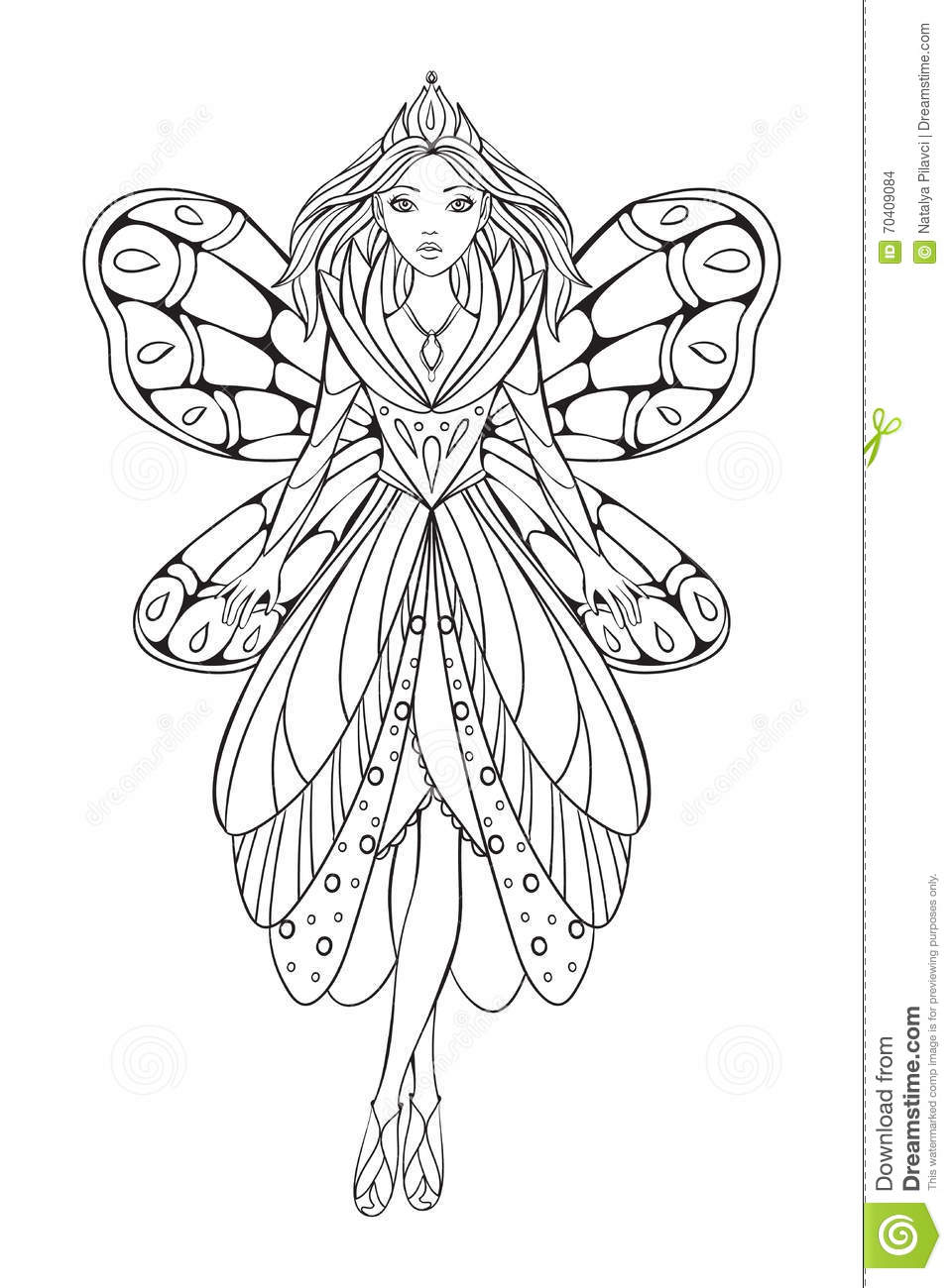 Vector Illustration Of A Beautiful Flower Fairy Queen For ...