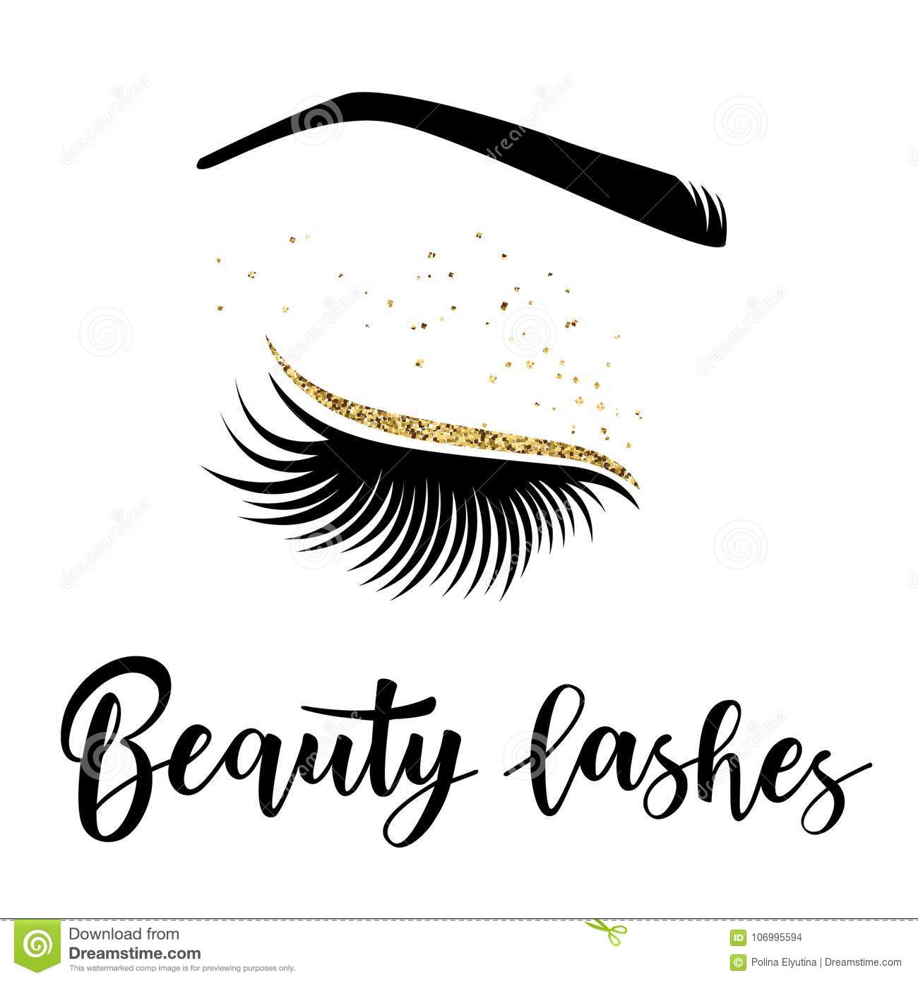 f987f38b6e2 Lashes lettering. Vector illustration of beauty lashes. For beauty salon,  lash extensions maker, brow master. More similar stock illustrations