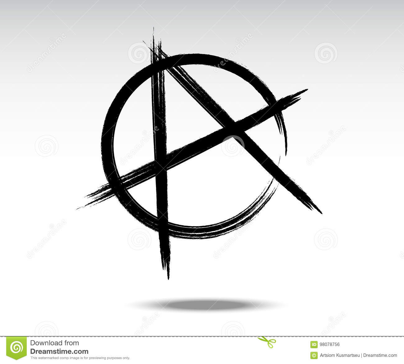 Vector Illustration Of Black Anarchy Sign Stock Vector