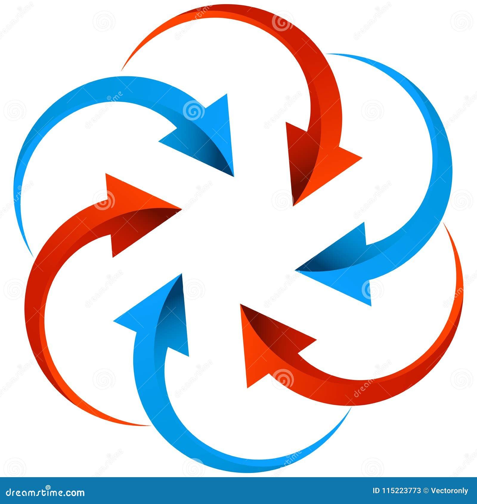 Set of arrows logo on white