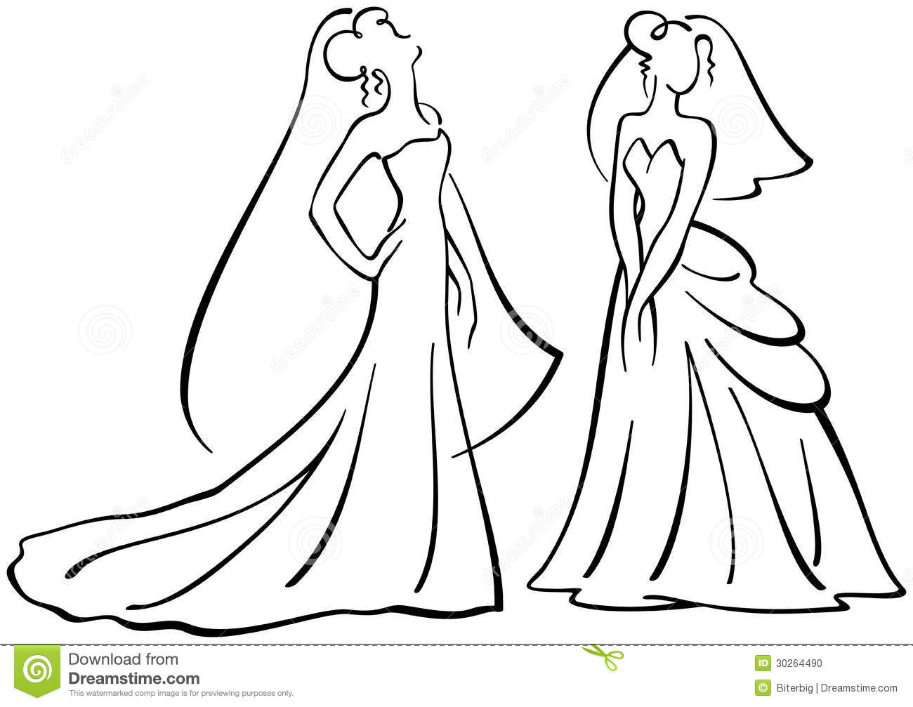 Drawing Lines Using Svg : Brides vector silhouettes stock illustration of