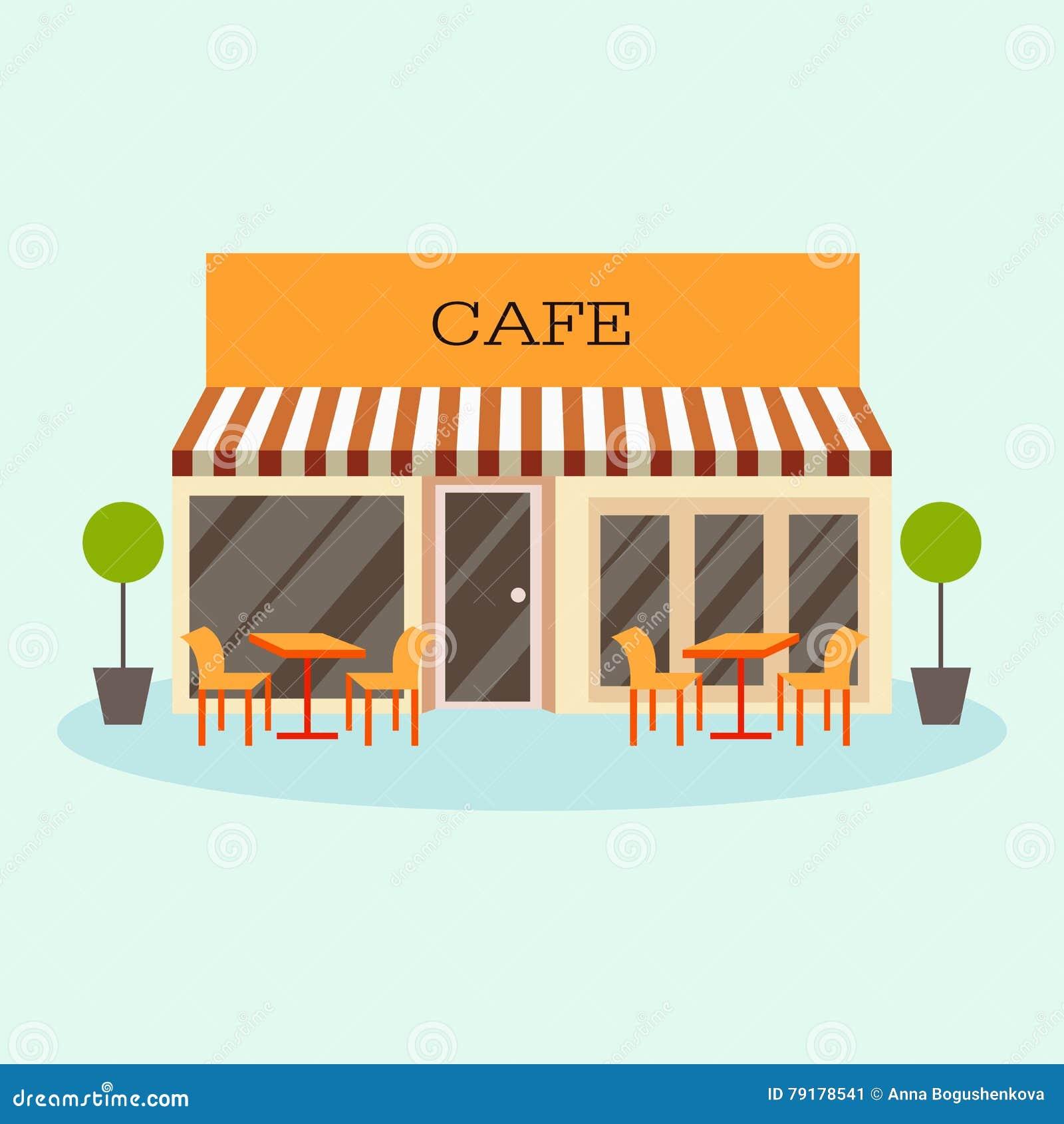 Building cartoon clipart restaurant building and restaurant building - Royalty Free Illustration Download Vector Illustration Of Building Restaurant
