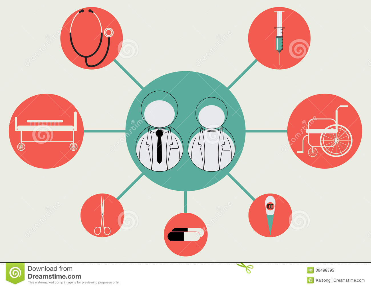 vector illustration of businessman  icon  doctor medical