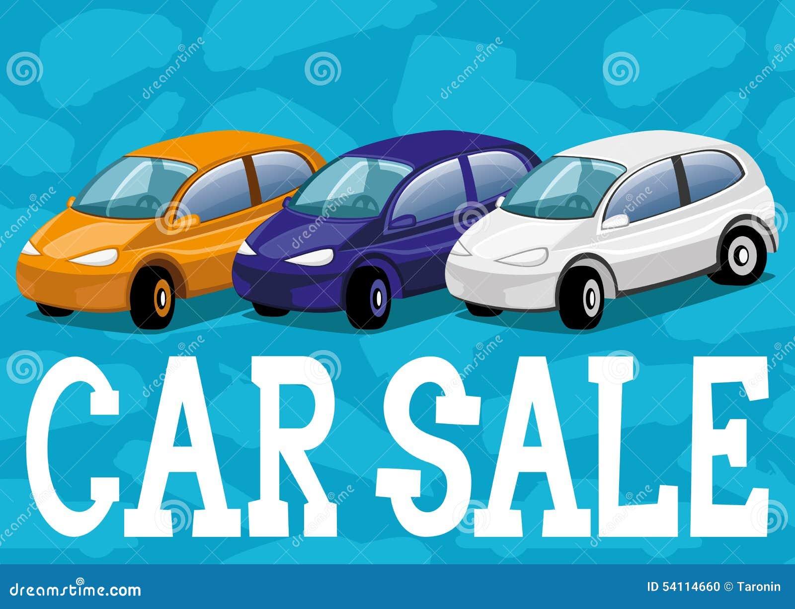 Vector Illustration. Car Sale. Stock Vector - Illustration of design ...