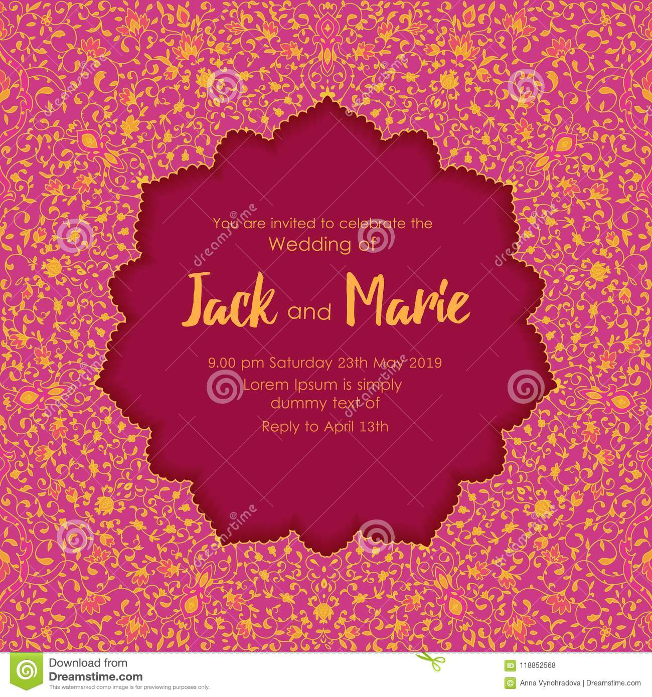 Beautiful vector card stock vector. Illustration of date - 118852568